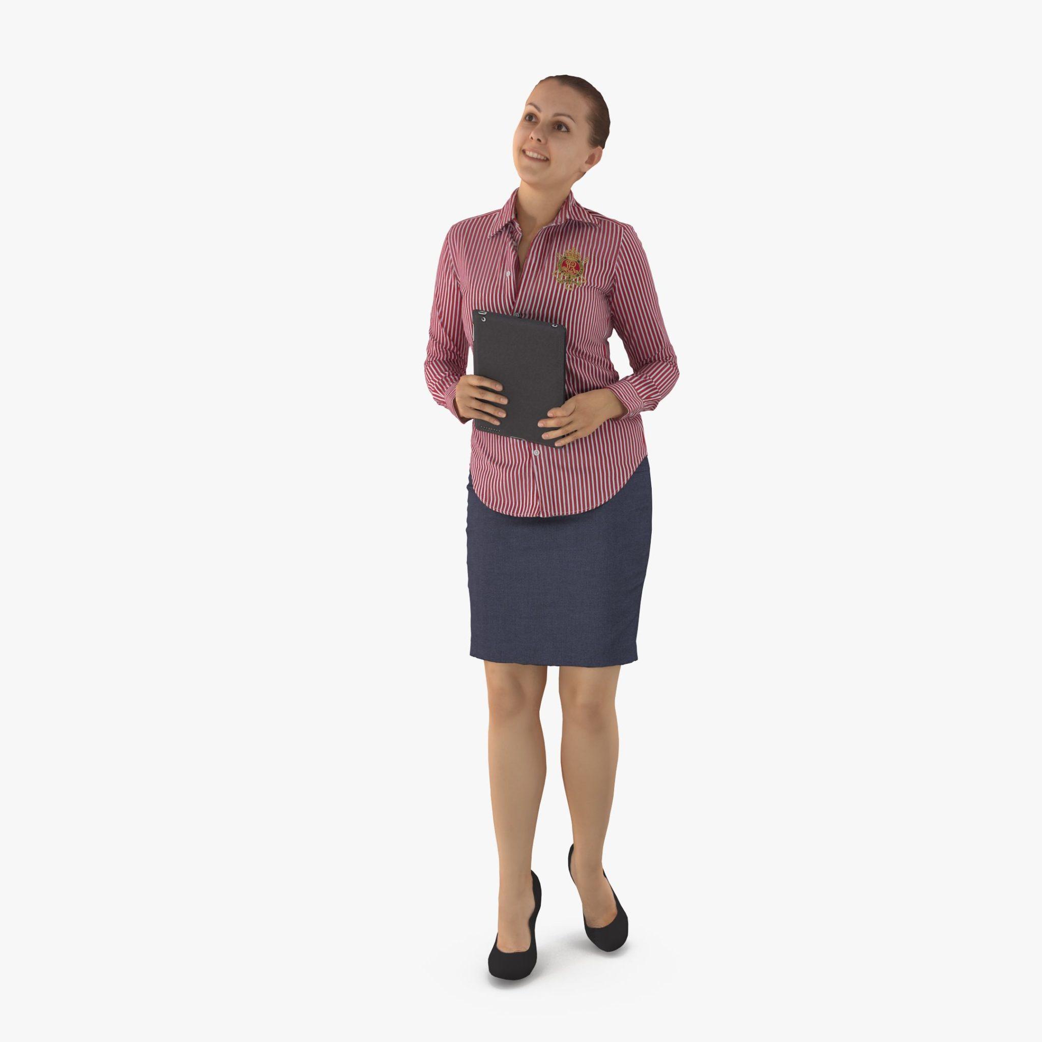 Business Woman Interest 3D Model | 3DTree Scanning Studio
