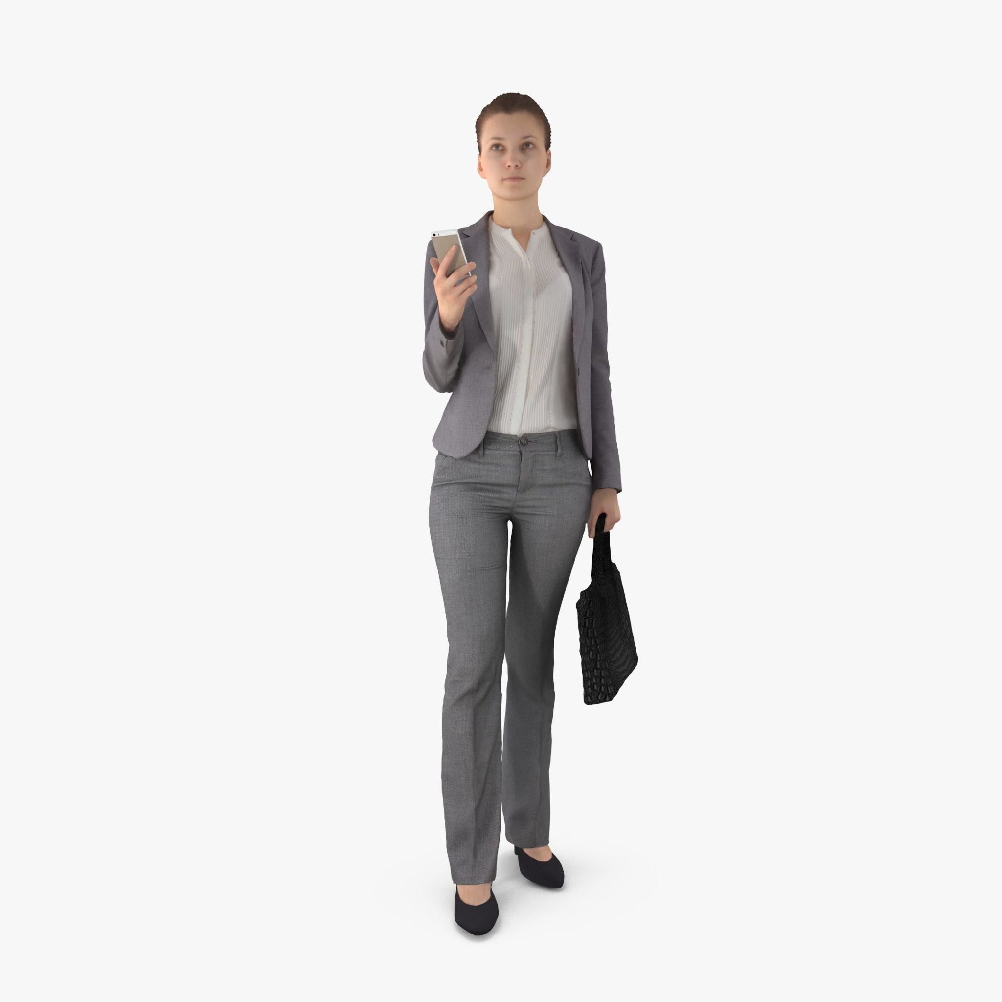Business Lady Standing 3D Model | 3DTree Scanning Studio