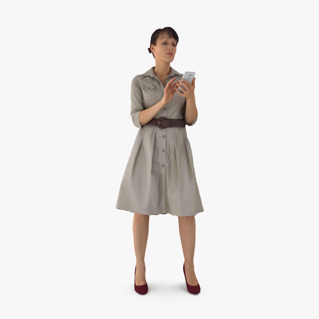 Business Lady in Dress 3D Model | 3DTree Scanning Studio