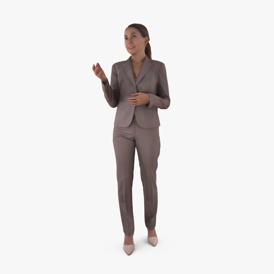 Business Woman Talking 3D Model | 3DTree Scanning Studio