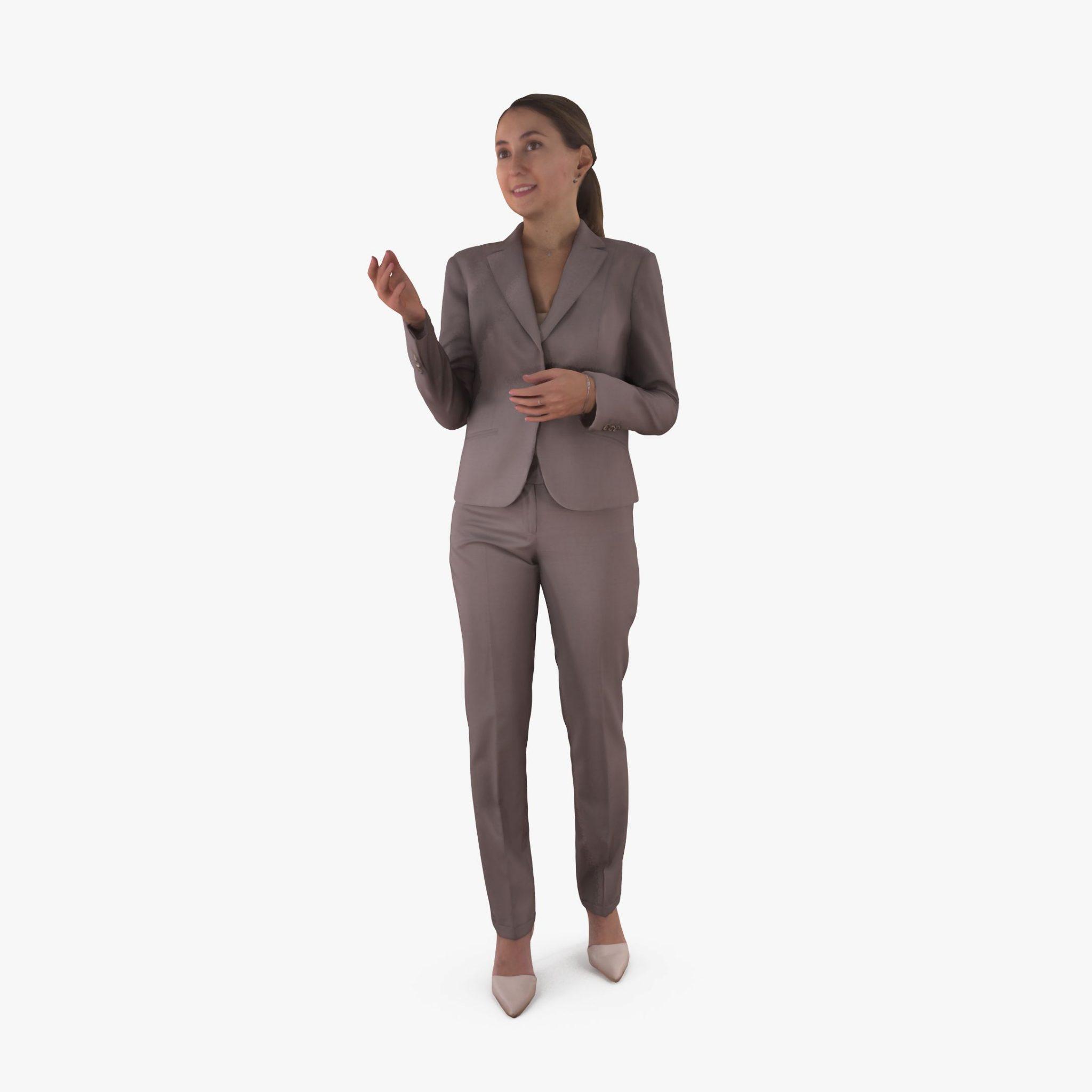 Business Woman Talking 3D Model | 3DTree Scanning Studio