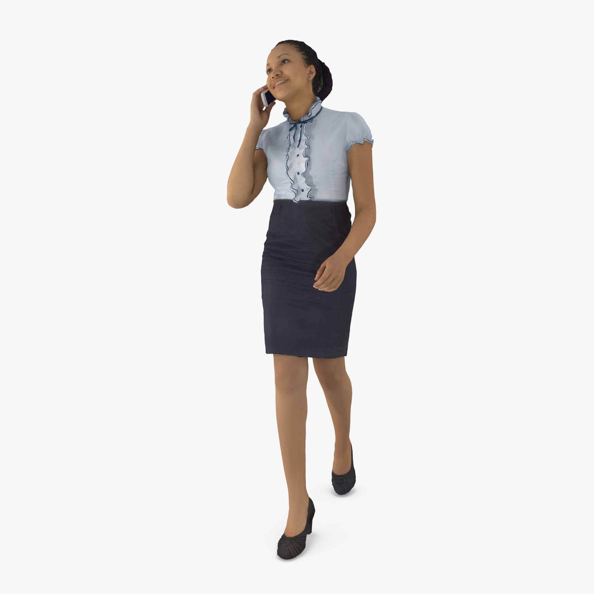 Happy Business Woman 3D Model | 3DTree Scanning Studio