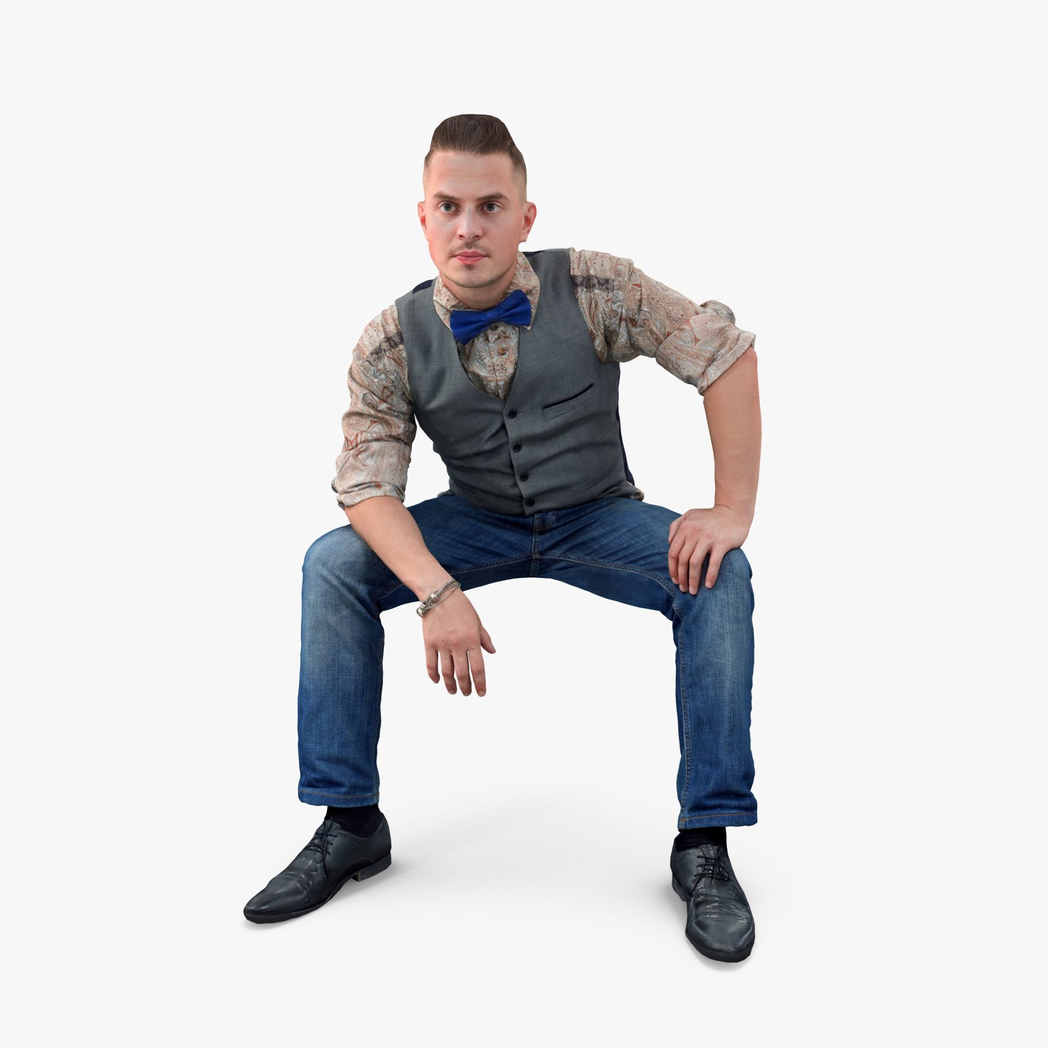 City Man Sitting 3D Model | 3DTree Scanning Studio