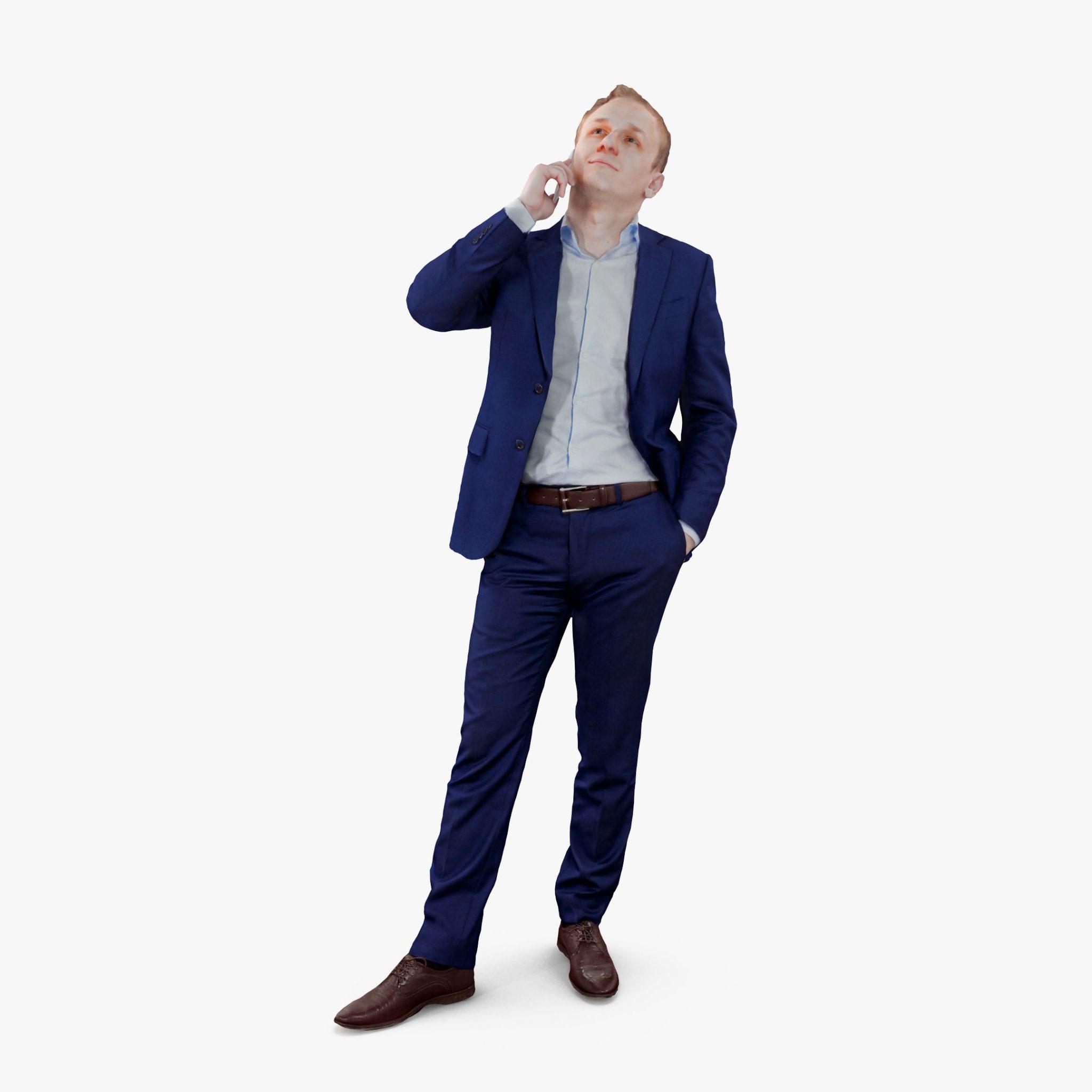 Businessman Listening 3D Model | 3DTree Scanning Studio