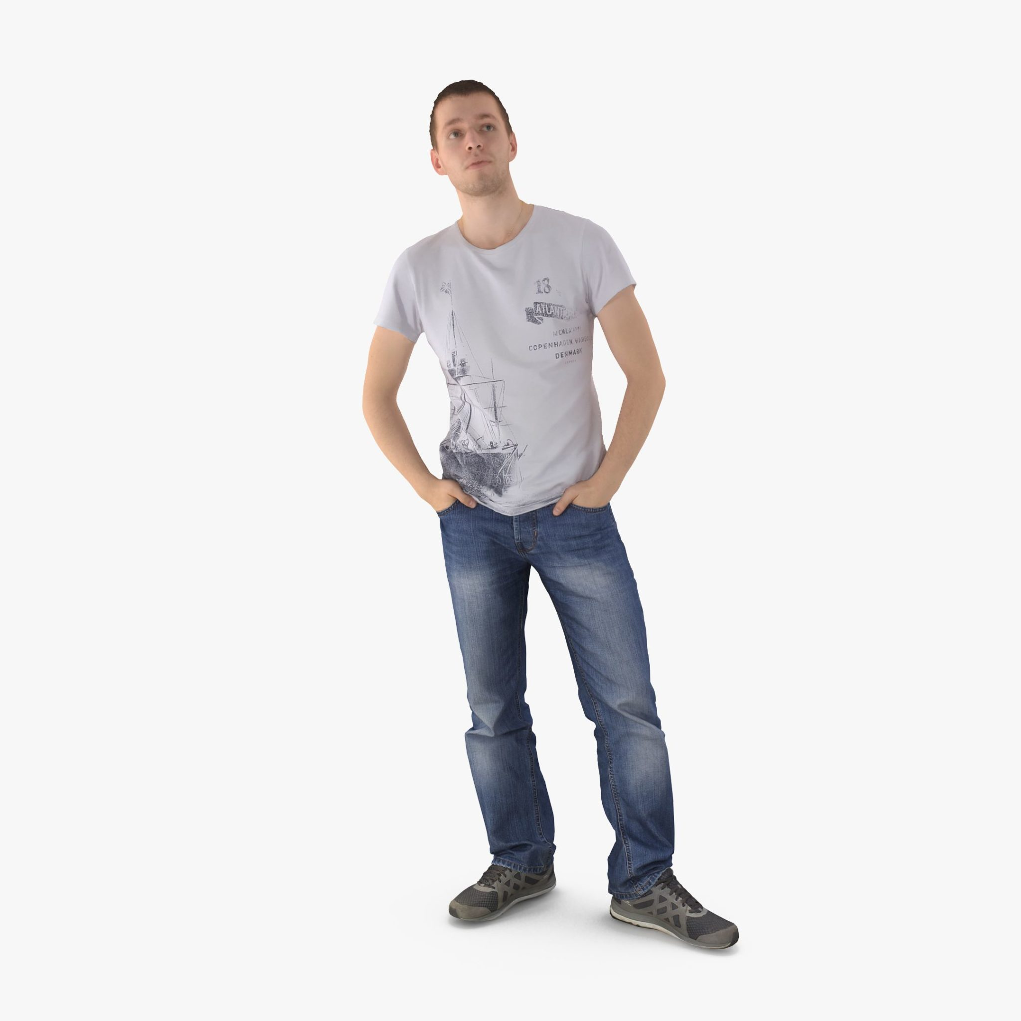 Casual Man Waiting 3D Model | 3DTree Scanning Studio