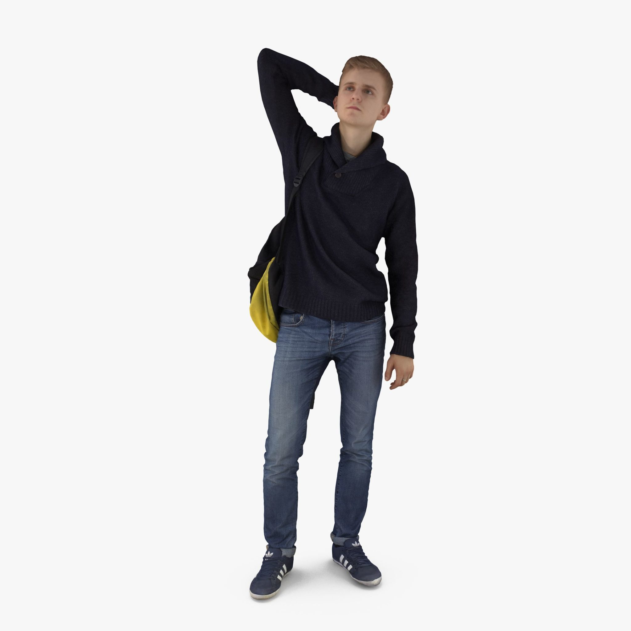 Casual Man with Bag 3D Model | 3DTree Scanning Studio