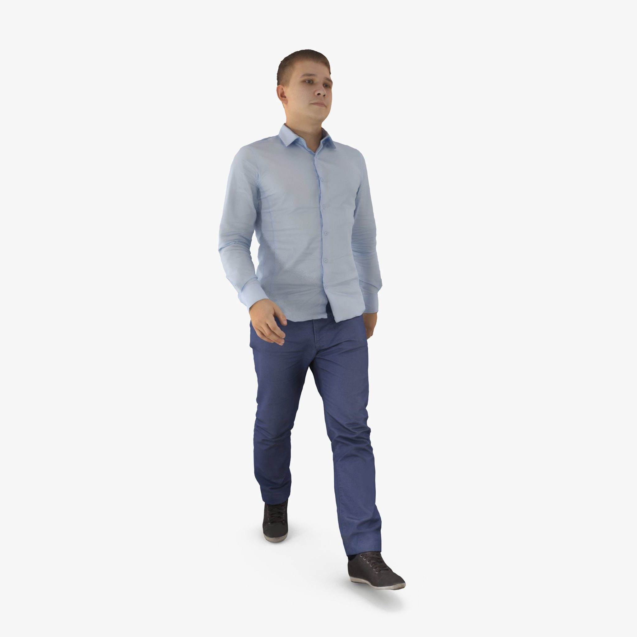 City Man Walking 3D Model | 3DTree Scanning Studio