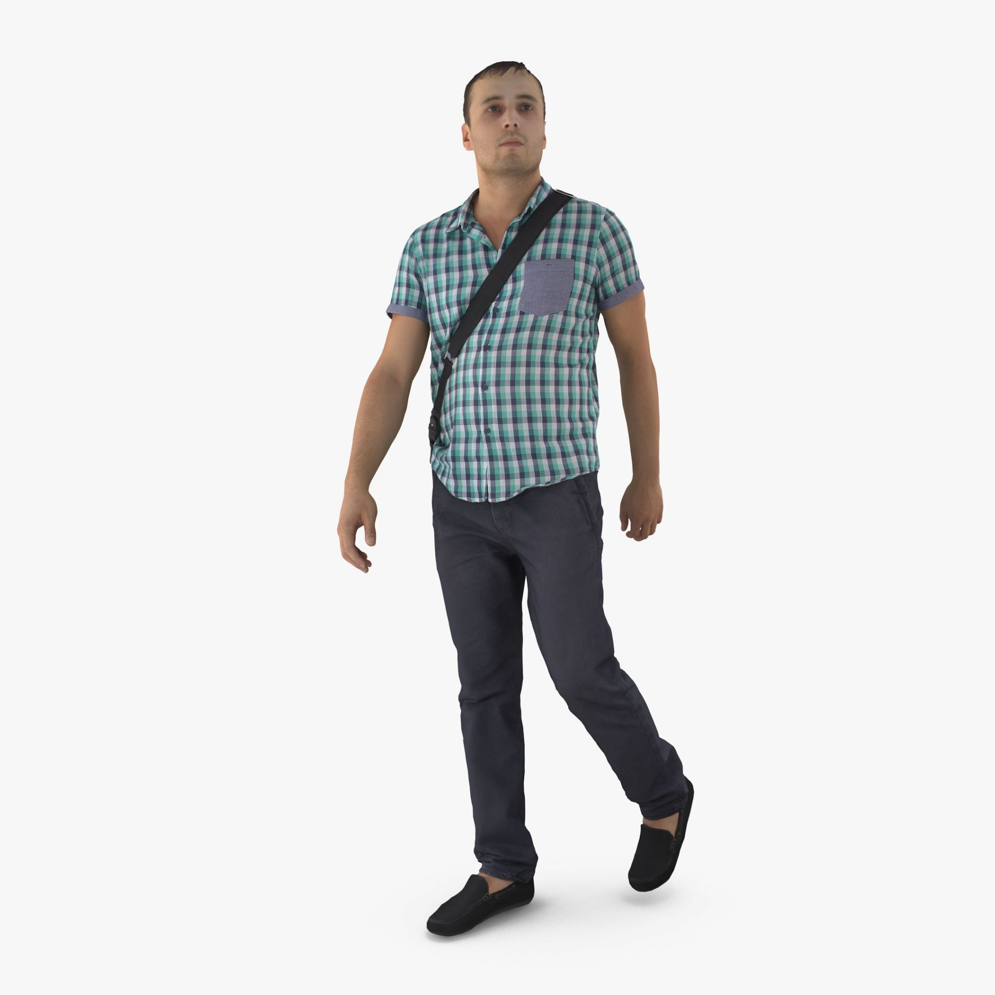 City Man with Bag 3D Model | 3DTree Scanning Studio