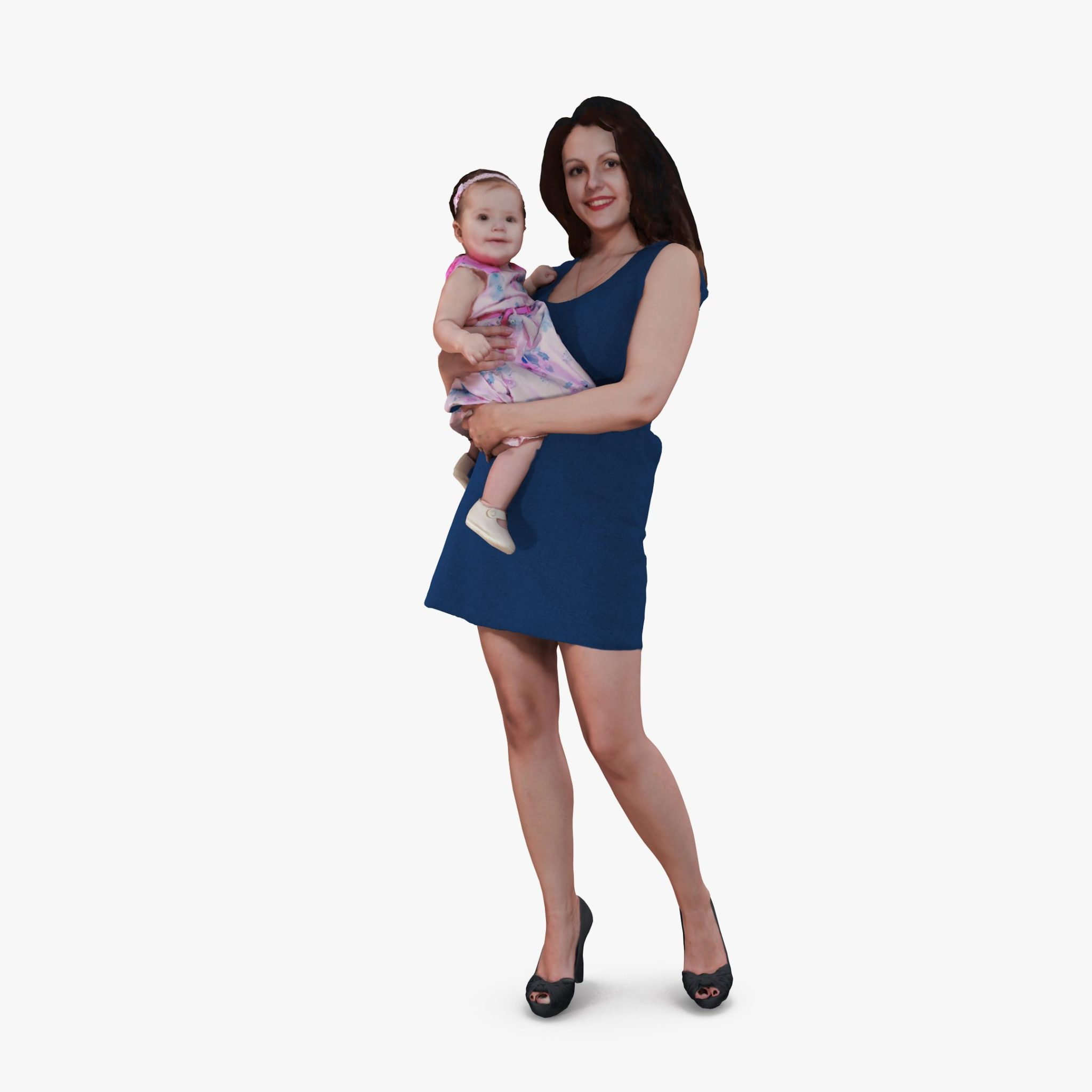 Lady with Baby 3D Model | 3DTree Scanning Studio
