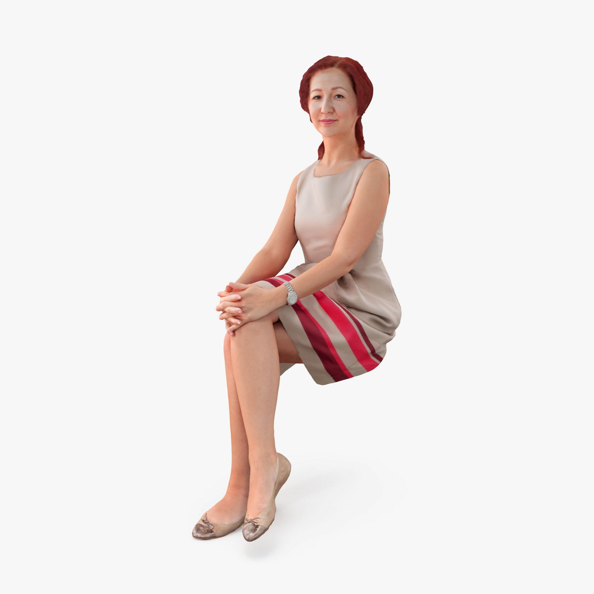 City Woman Sitting 3D Model | 3DTree Scanning Studio