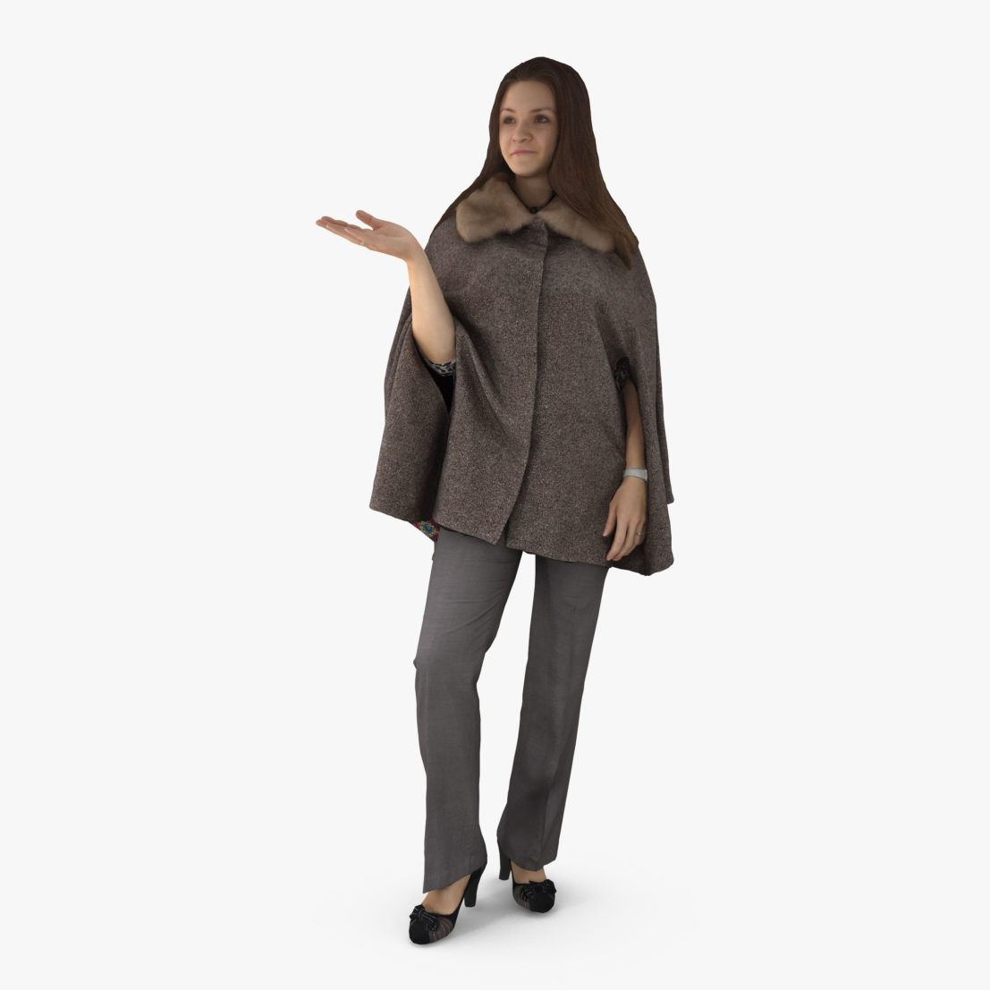 Woman Poncho Dress 3D Model | 3DTree Scanning Studio