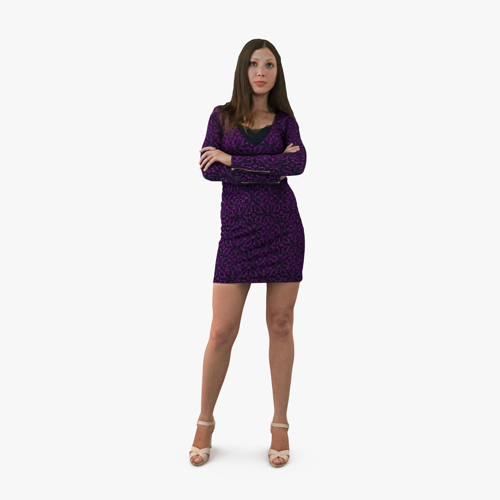 City Woman Casual Dress 3D Model | 3DTree Scanning Studio
