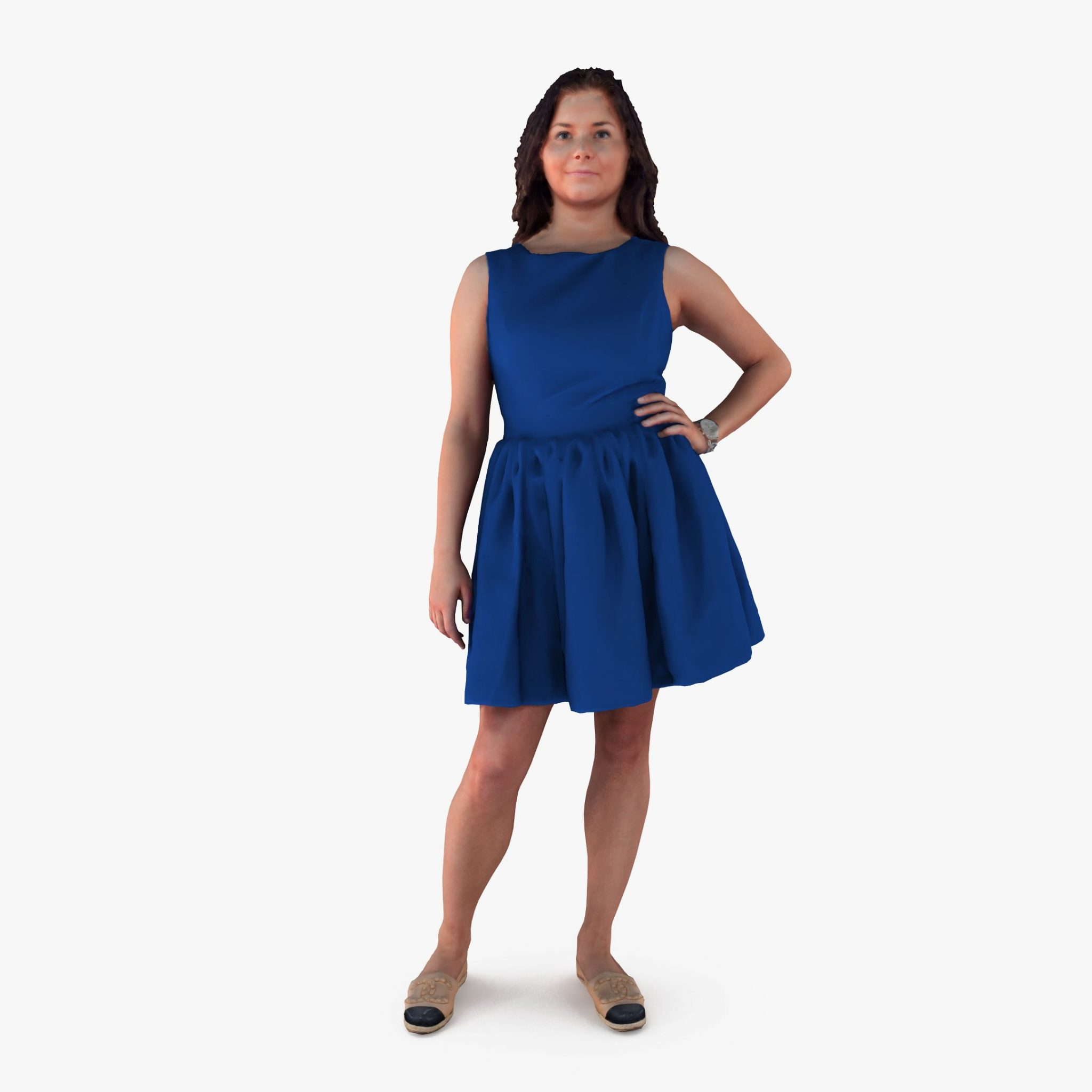 Woman Posed Casual Dress 3D Model | 3DTree Scanning Studio