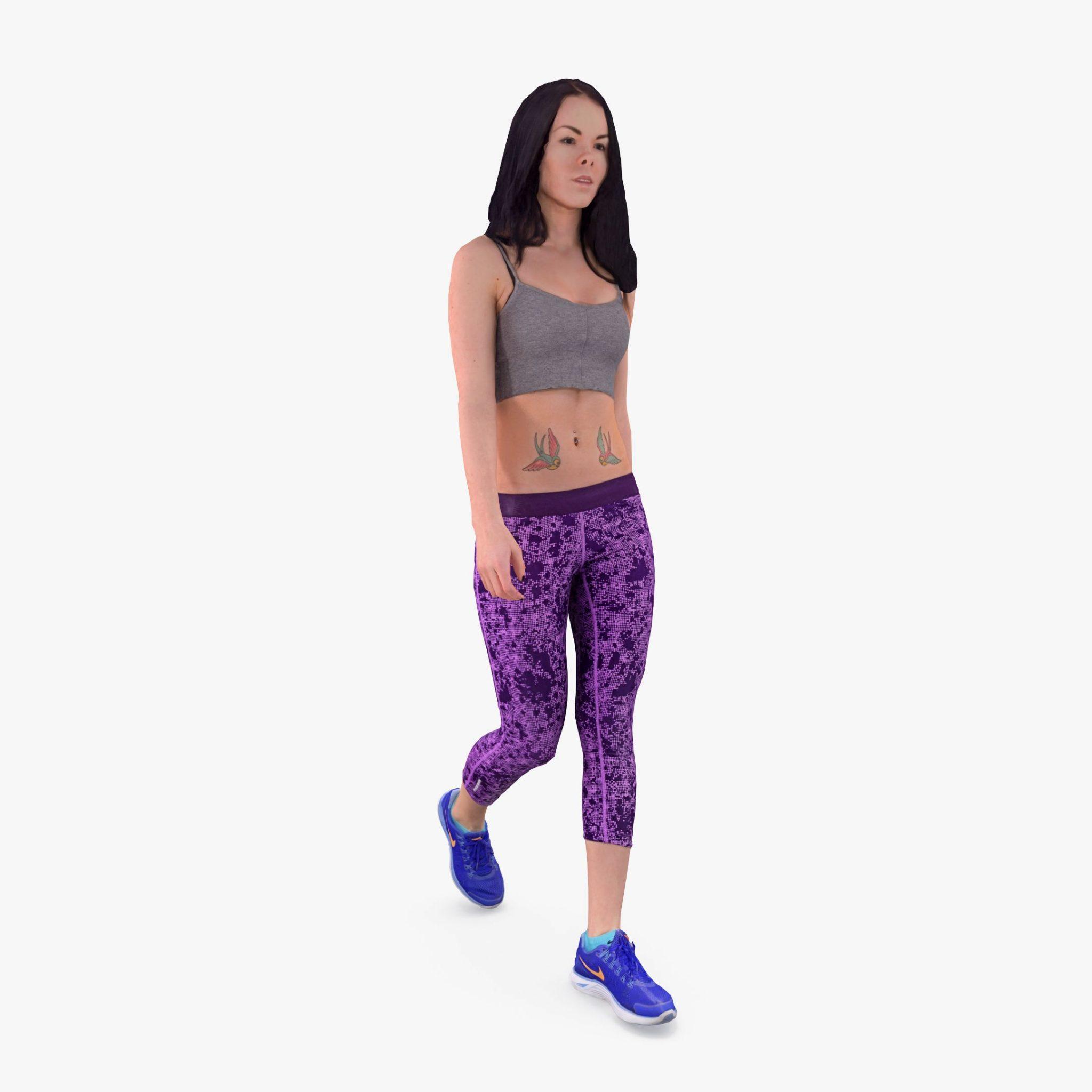 Sport Lady Walking 3D Model | 3DTree Scanning Studio