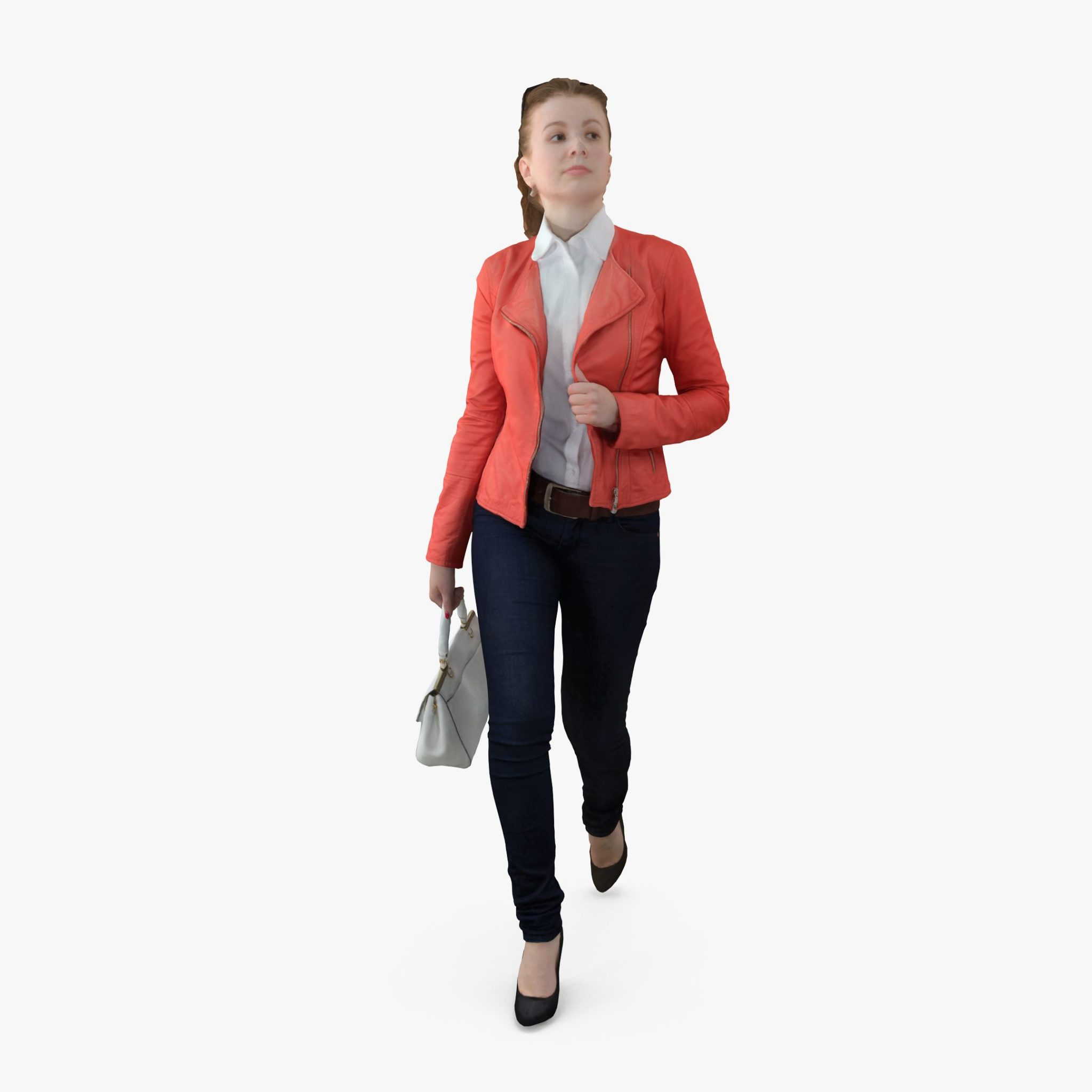 City Female Walking 3D Model | 3DTree Scanning Studio