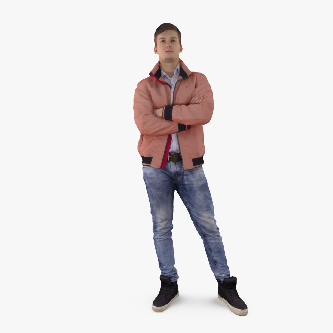 Urban Man in Jacket 3D Model | 3DTree Scanning Studio