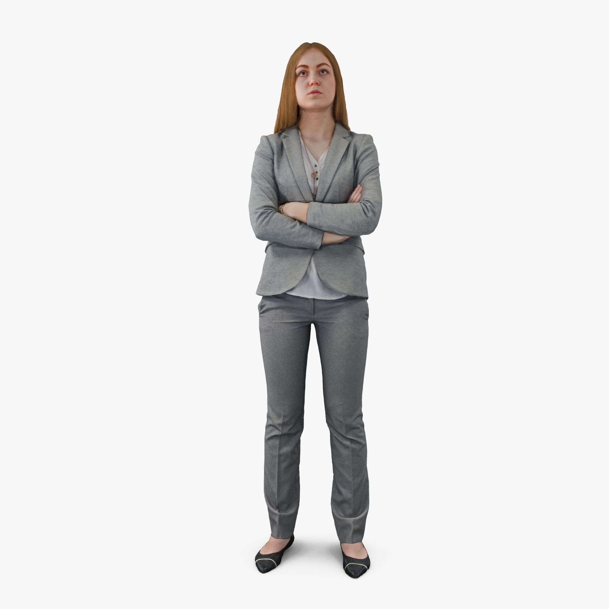 Business Woman Listening 3D Model | 3DTree Scanning Studio