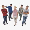 Casual People Collection x5 3D Models | 3DTree Scanning Studio