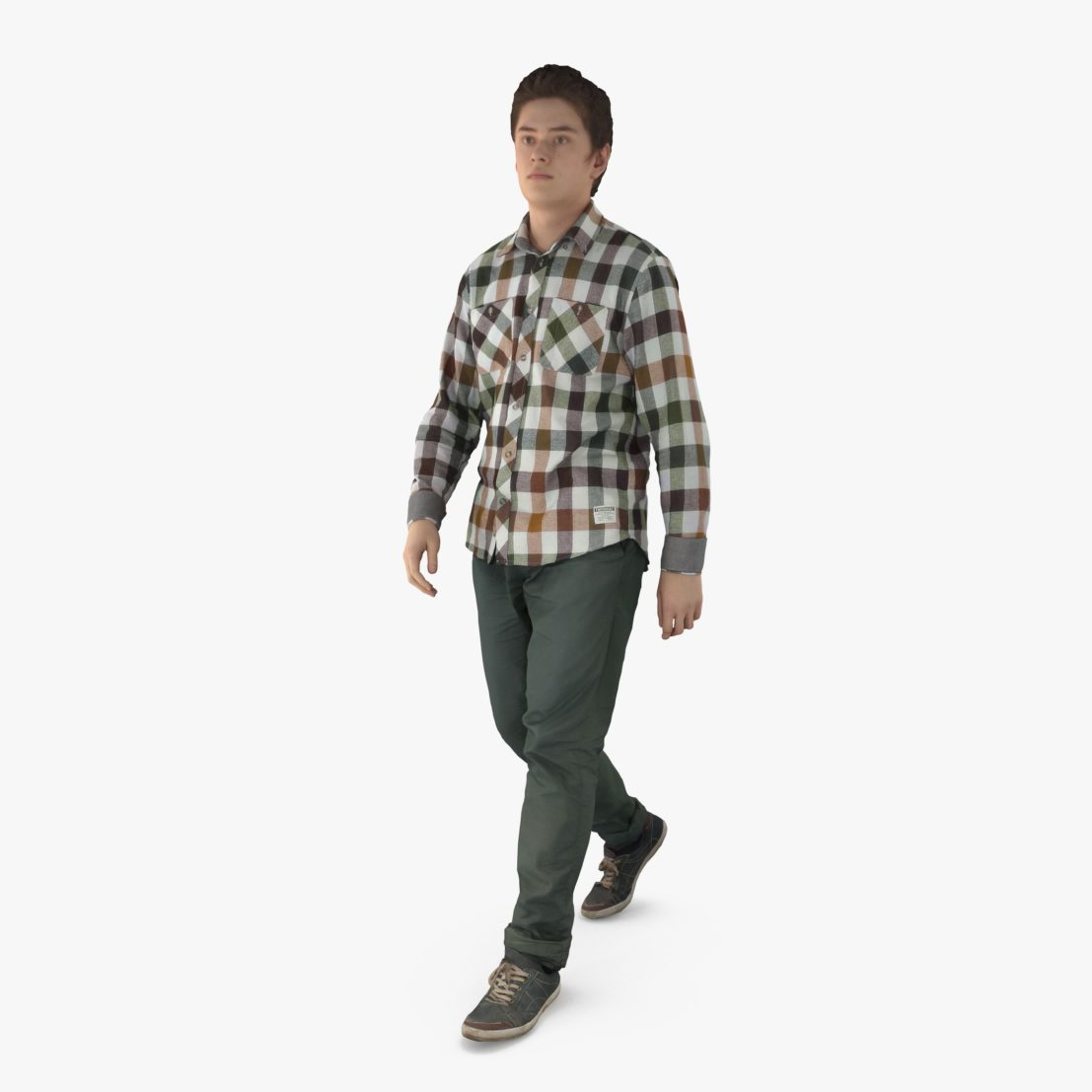 Urban Man Walking 3D Model | 3DTree Scanning Studio