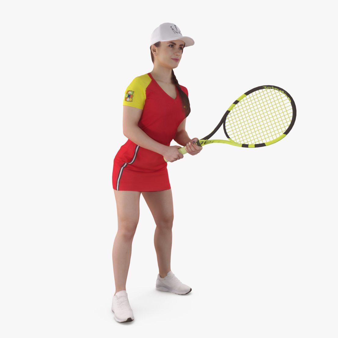 Tennis Girl 3D Model | 3DTree Scanning Studio
