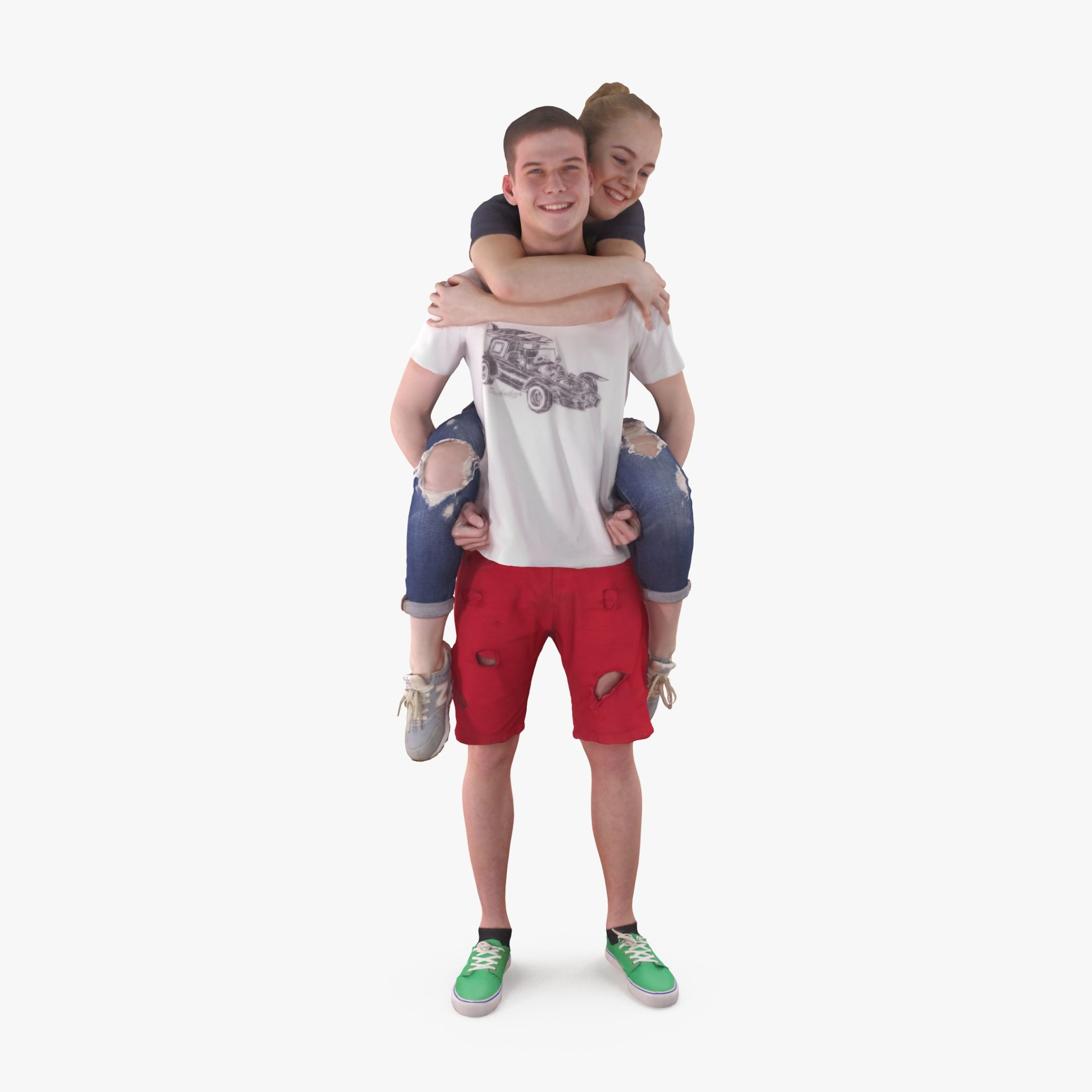 Young Couple 3D Model | 3DTree Scanning Studio