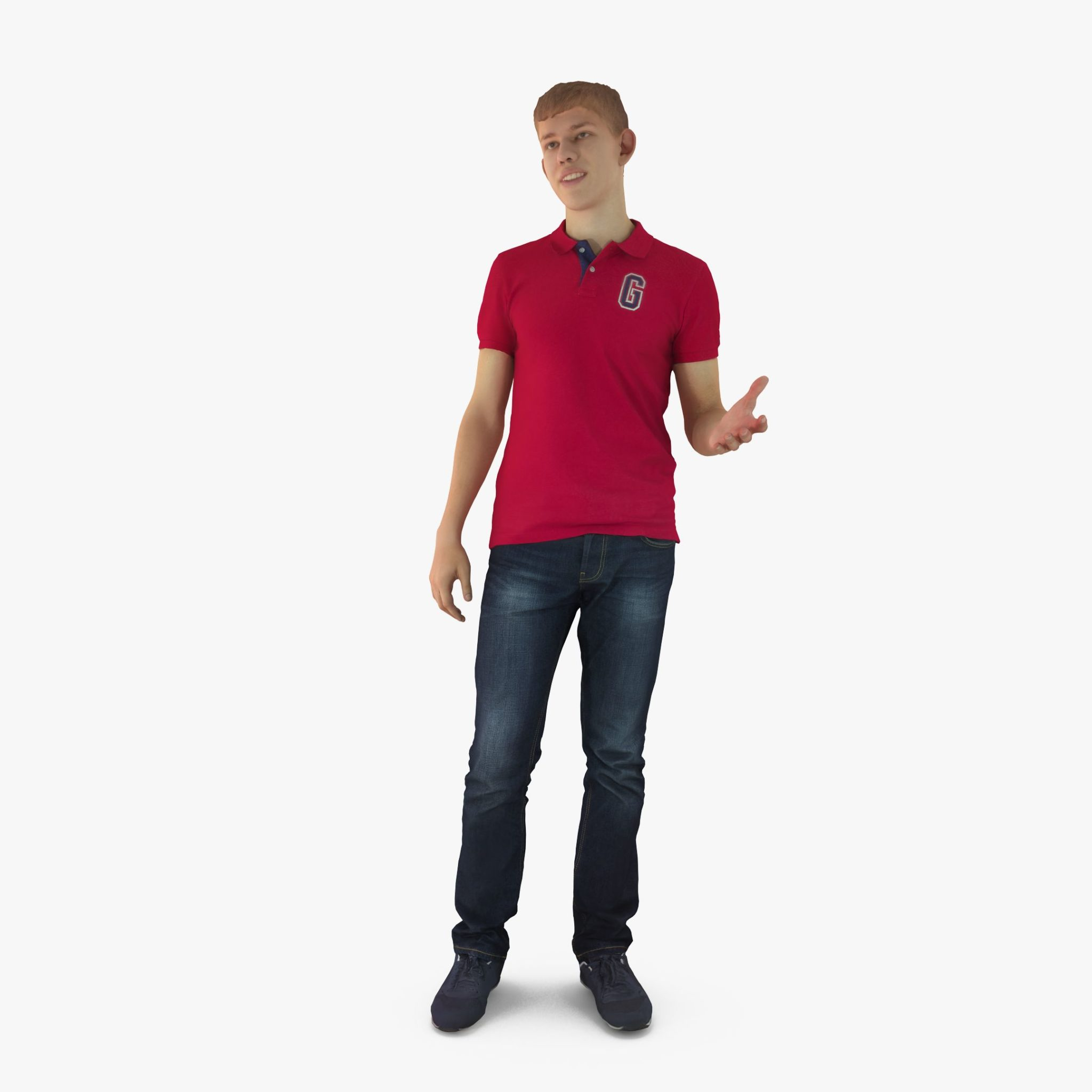 Casual Male Speaking 3D Model | 3DTree Scanning Studio
