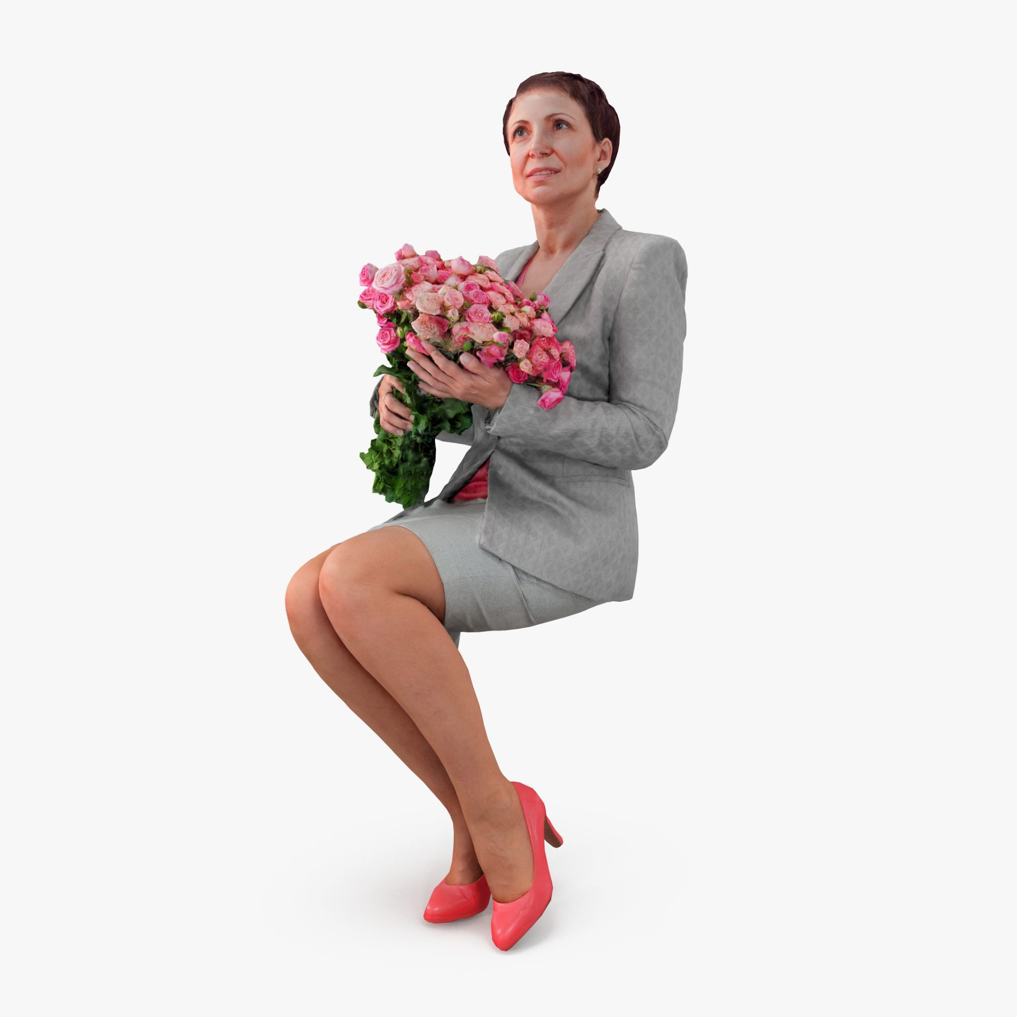 Woman with Flowers 3D Model | 3DTree Scanning Studio