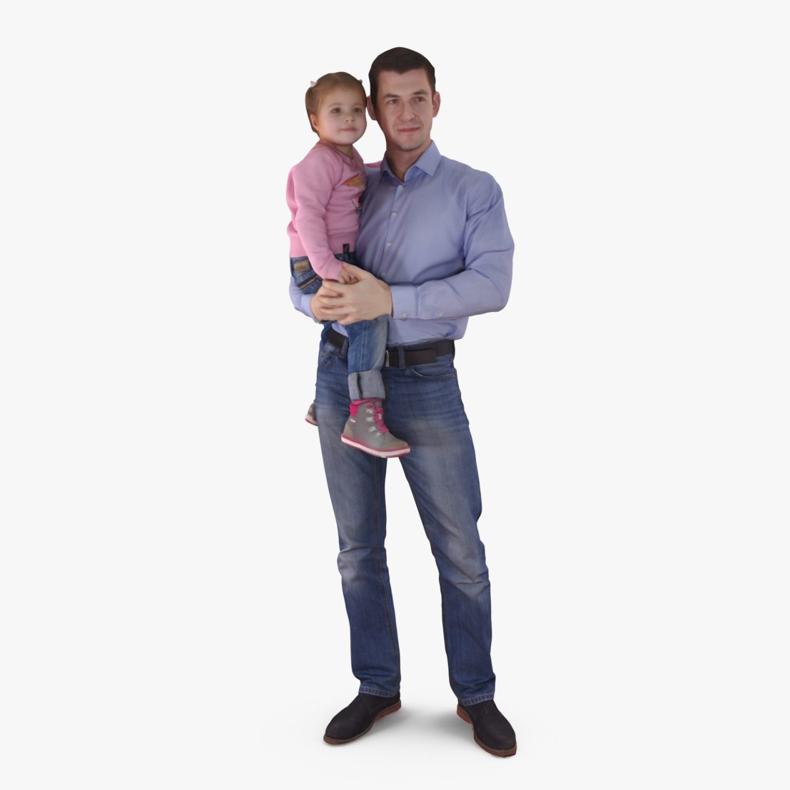 Dad Holding Baby 3D Model | 3DTree Scanning Studio