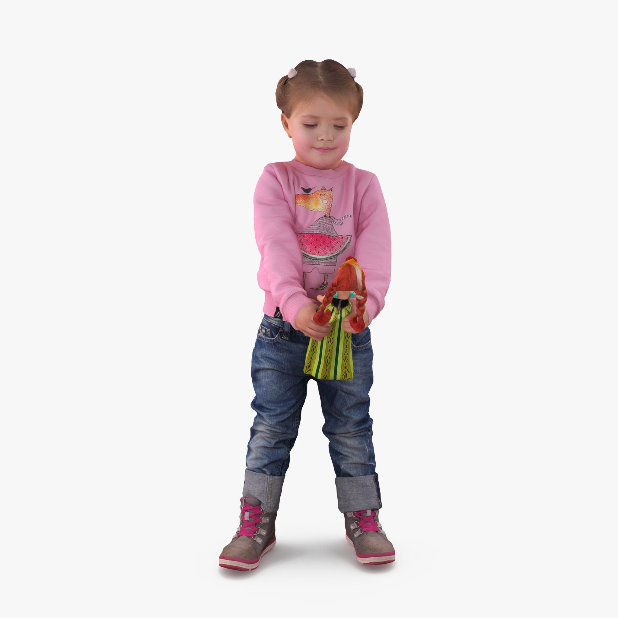 Girl With a Doll 3D Model | 3DTree Scanning Studio