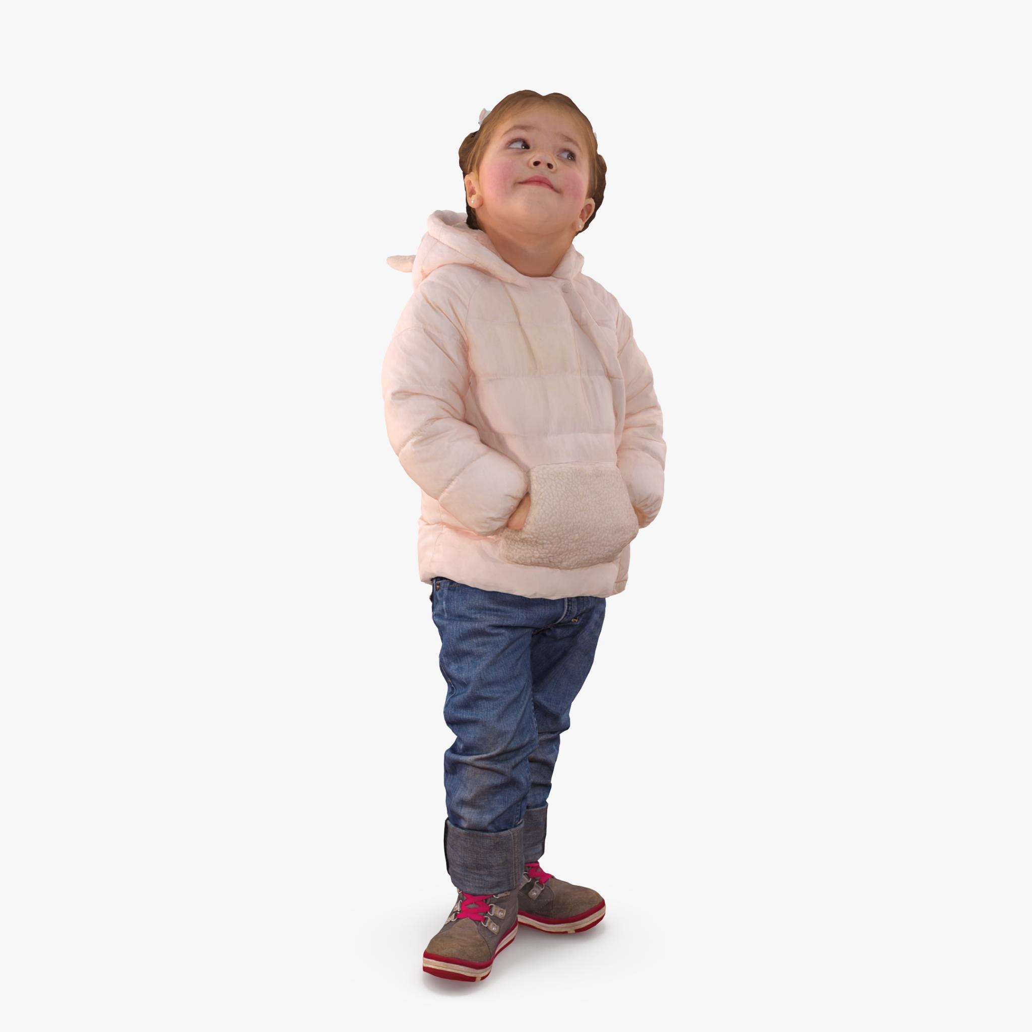 Baby Standing 3D Model   3DTree Scanning Studio