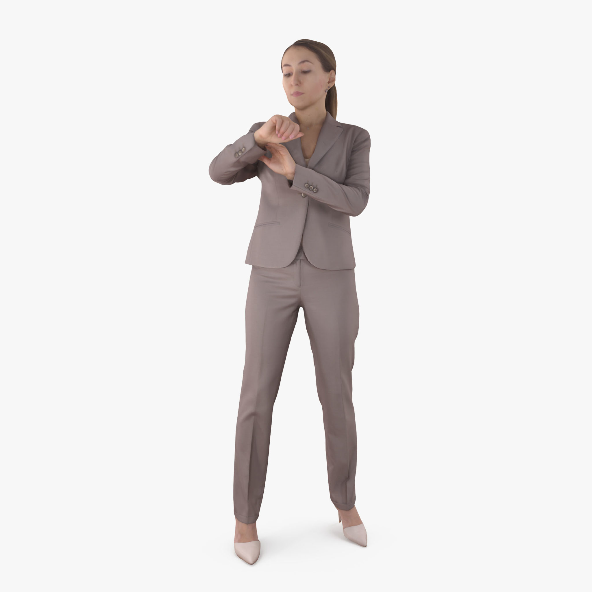 Businesswoman Waiting 3D Model | 3DTree Scanning Studio