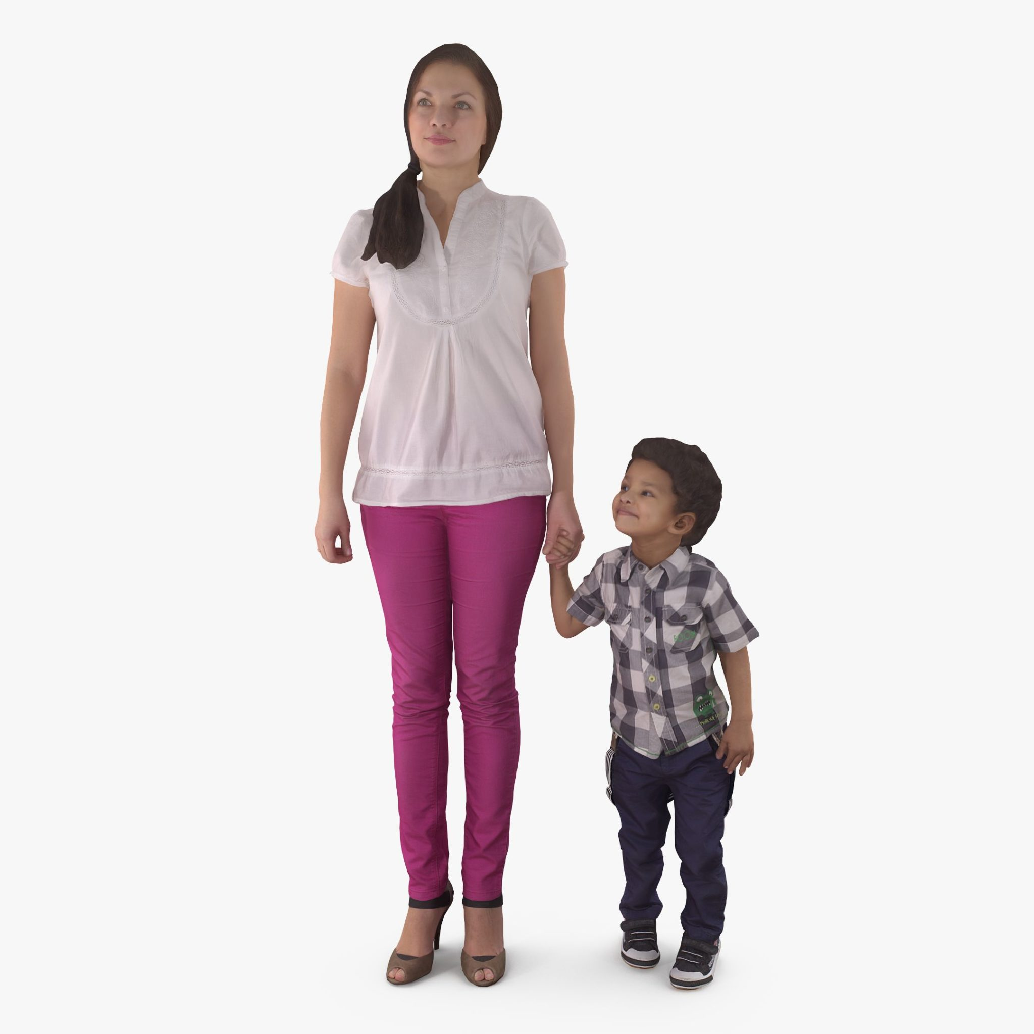Mom and Boy 3D Model | 3DTree Scanning Studio