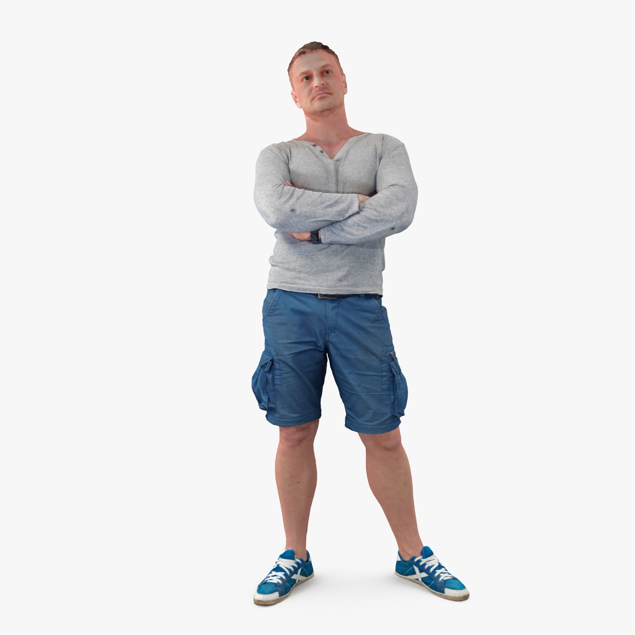Casual Athletic Male 3D Model | 3DTree Scanning Studio