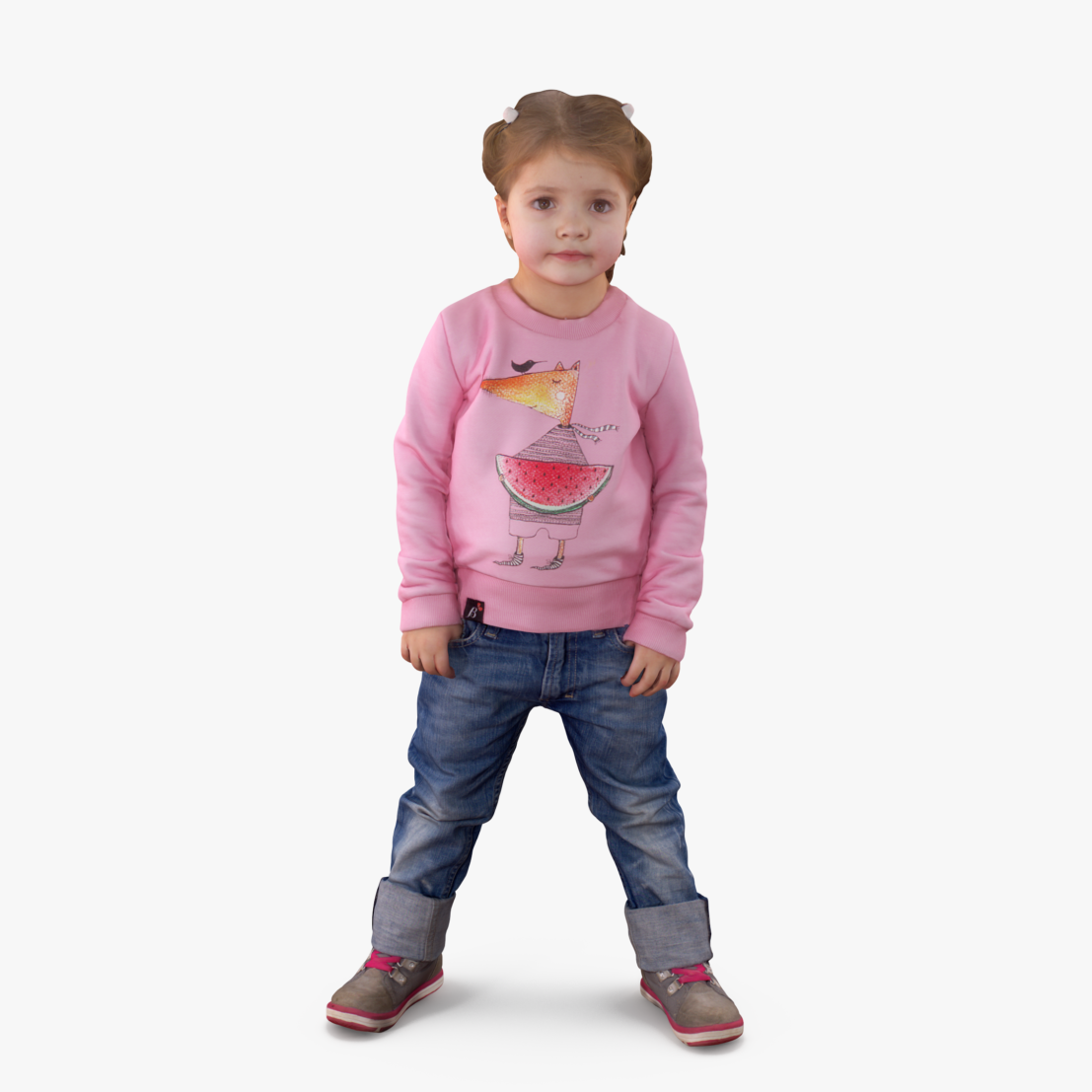 Baby Girl Standing 3D Model | 3DTree Scanning Studio
