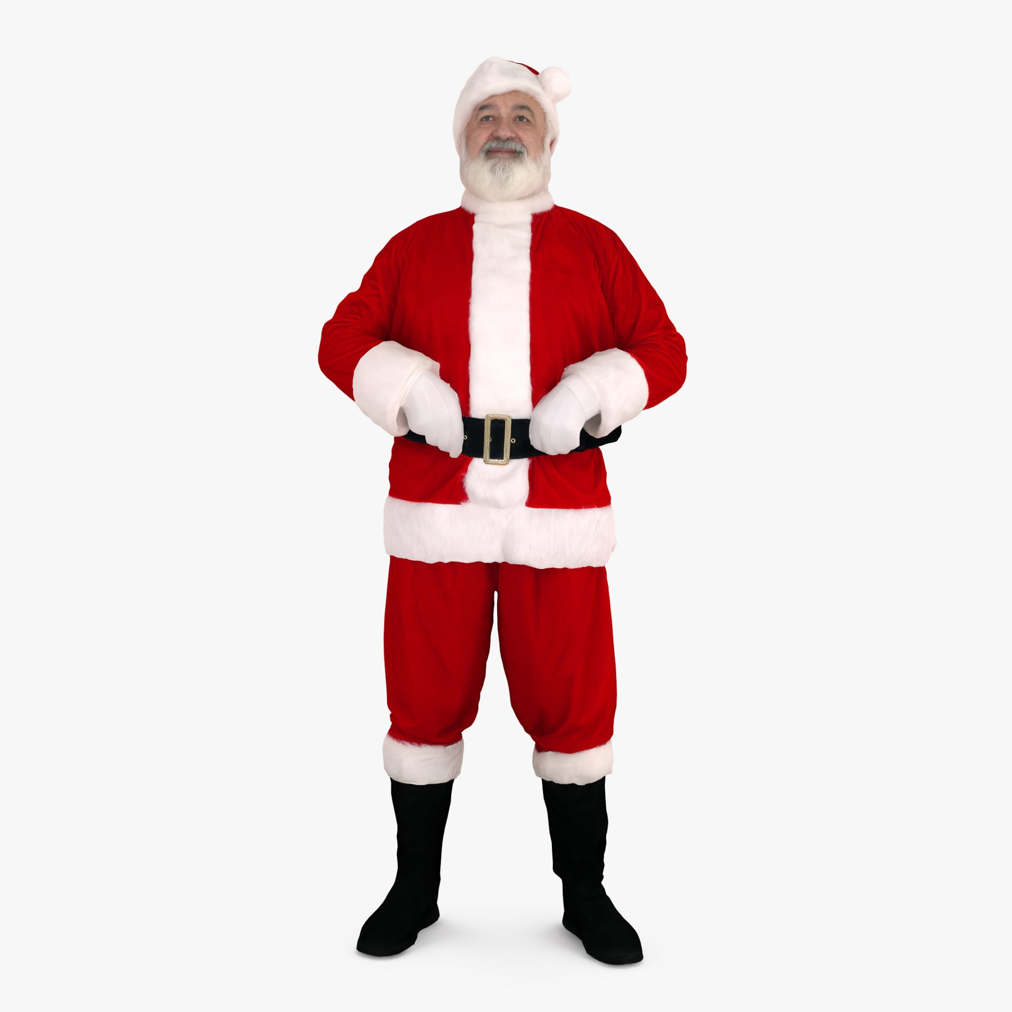 Santa Standing 3D Model | 3DTree Scanning Studio