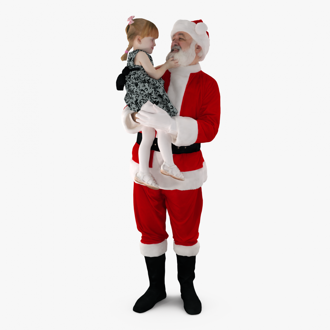 Santa with a Child 3D Model | 3DTree Scanning Studio