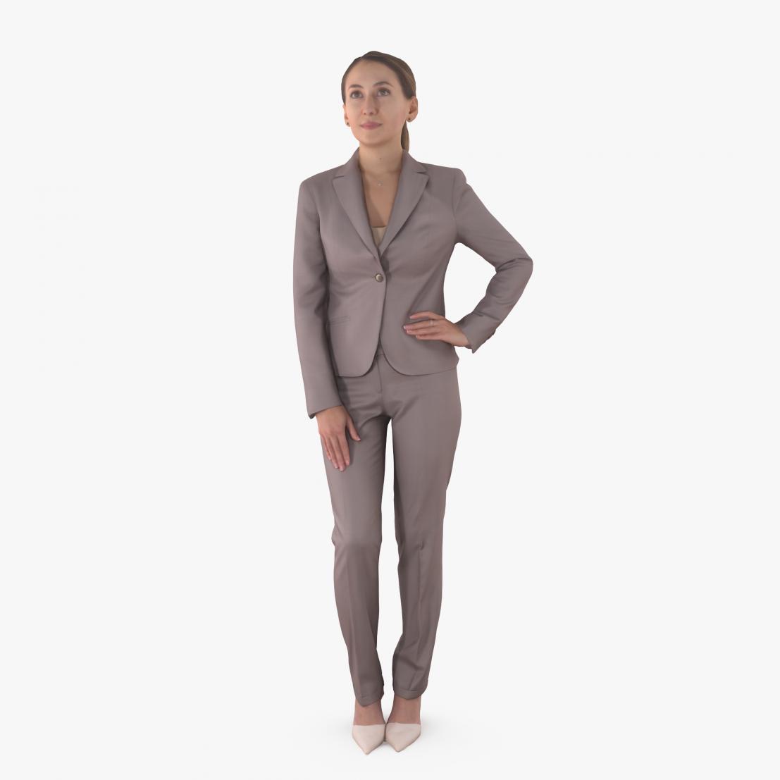 Business Woman Posing 3D Model | 3DTree Scanning Studio