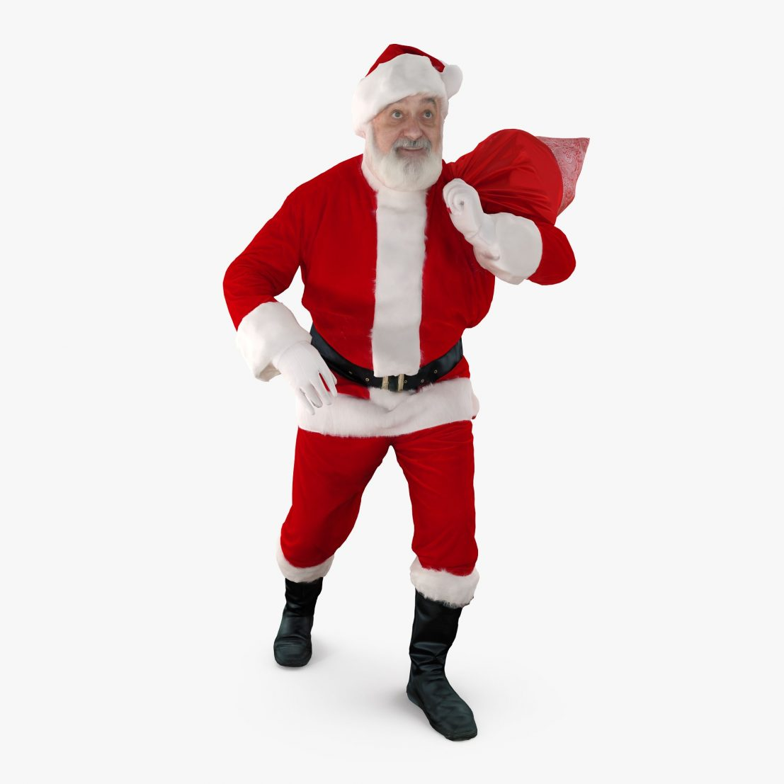 Santa Claus With Gifts 3D Model | 3DTree Scanning Studio