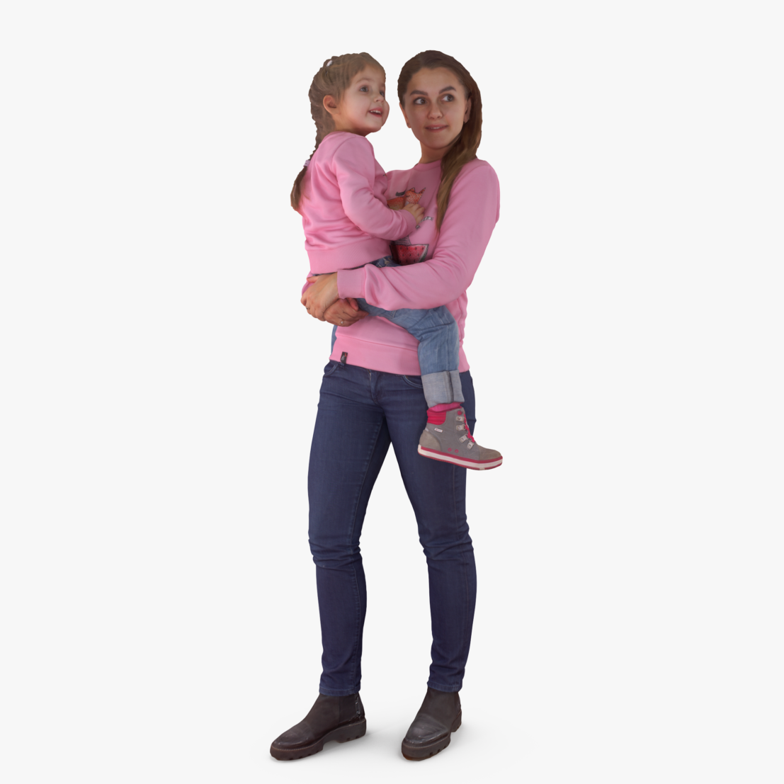 Mother Holding Baby 3D Model | 3DTree Scanning Studio