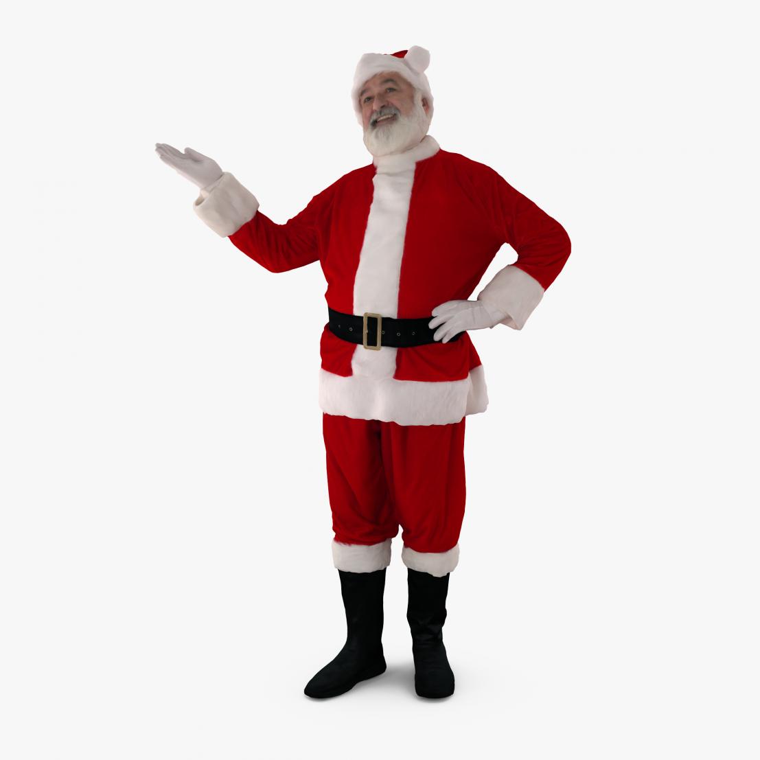 Santa Presenting 3D Model