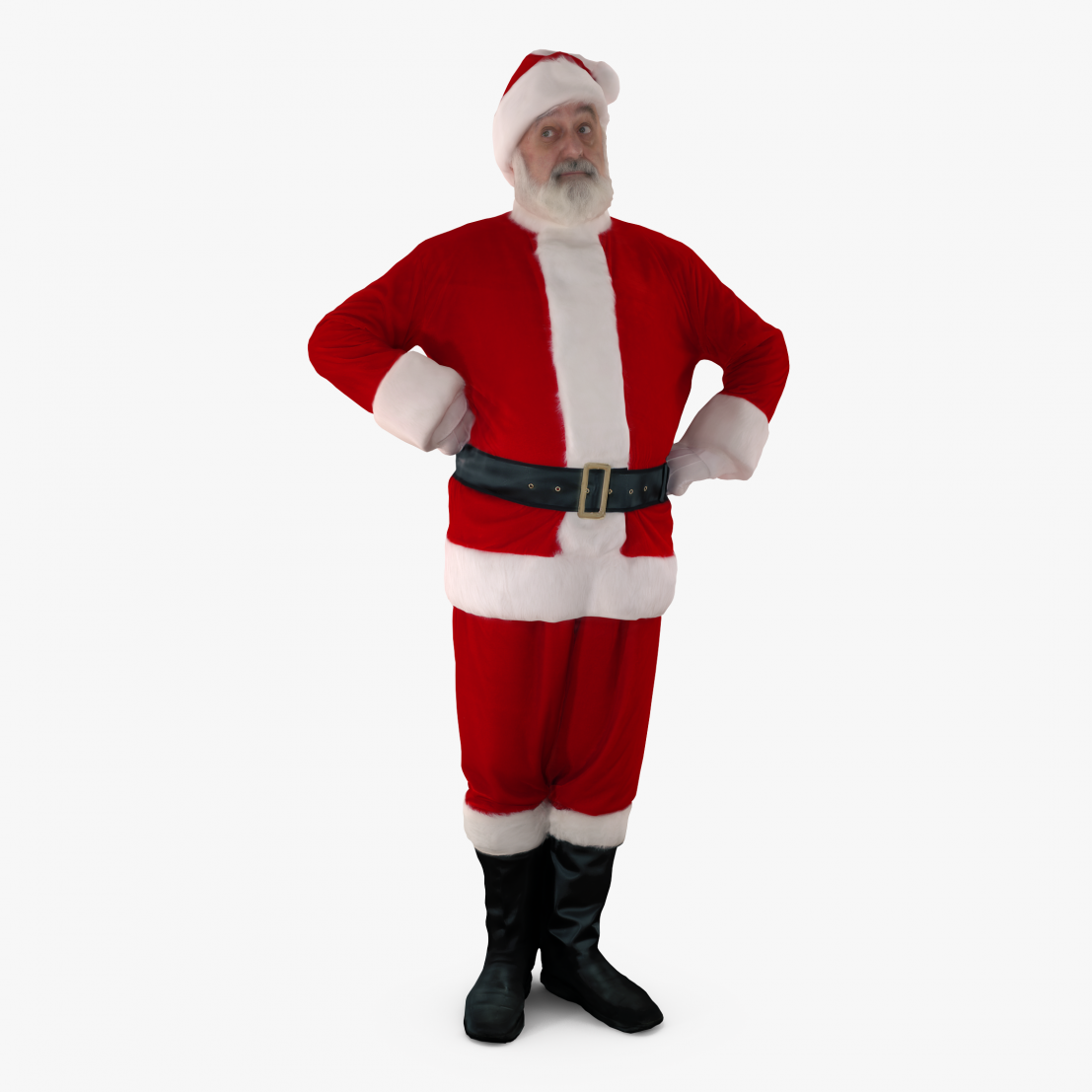 Santa Thinking 3D Model | 3DTree Scanning Studio