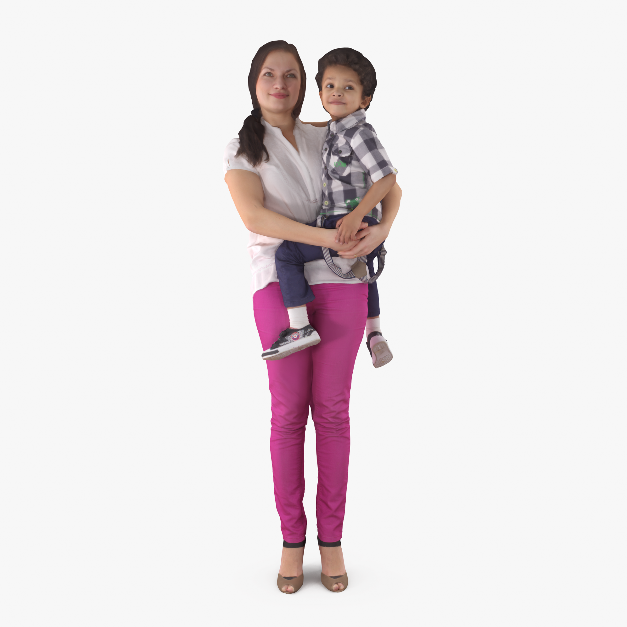 Mother with Child Boy 3D Model | 3DTree Scanning Studio