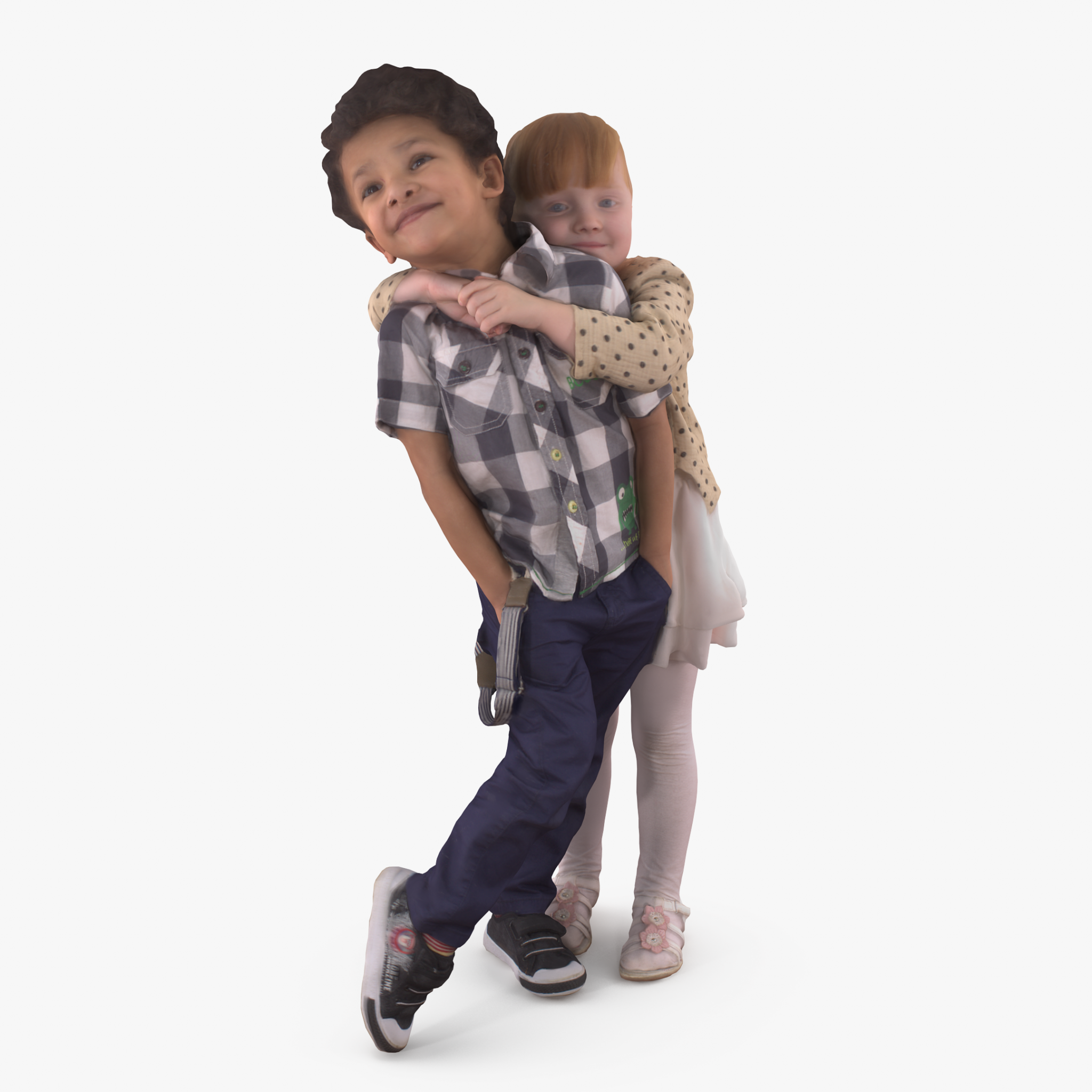 Babies Hugs 3D Model | 3DTree Scanning Studio