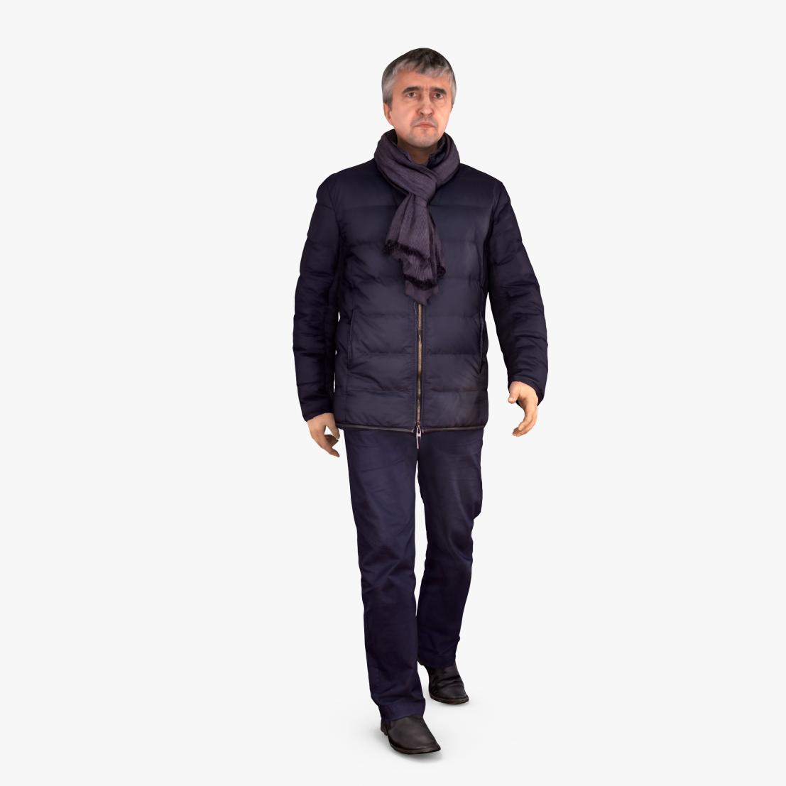 Casual Man Winter 3D Model | 3DTree Scanning Studio