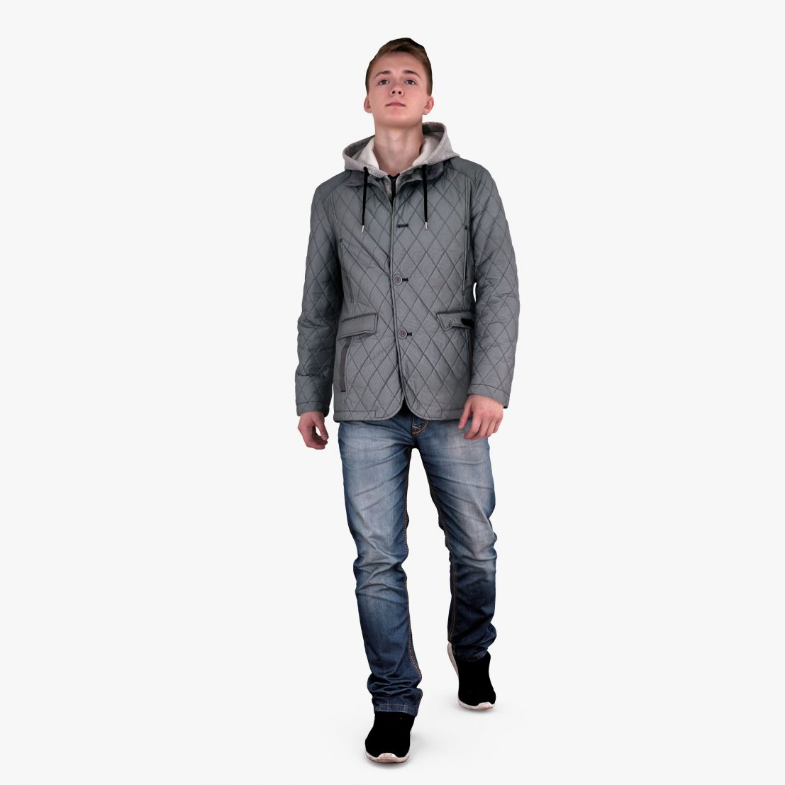 Casual Guy Winter 3D Model | 3DTree Scanning Studio