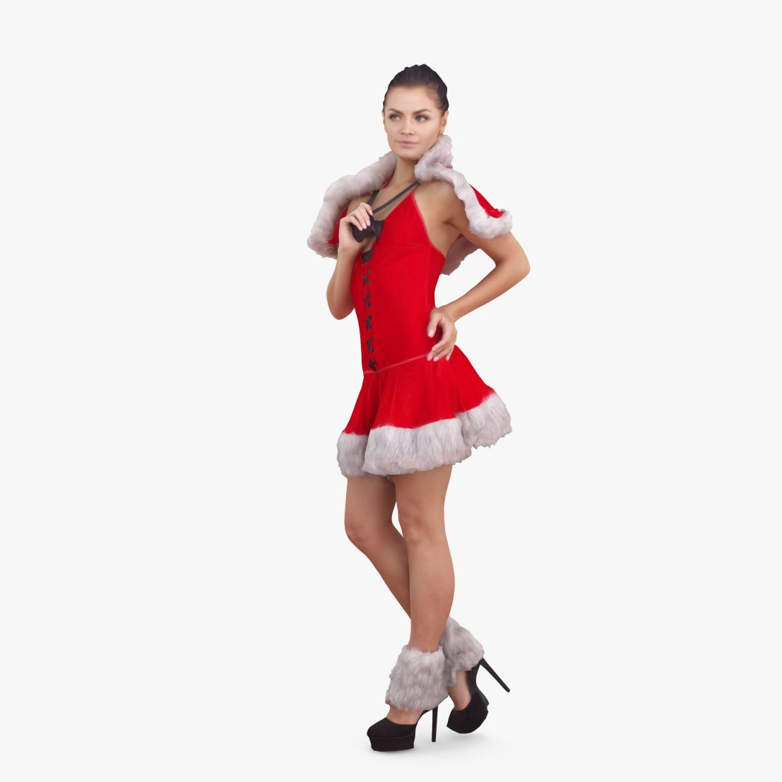 Xmas Girl 3D Model | 3DTree Scanning Studio