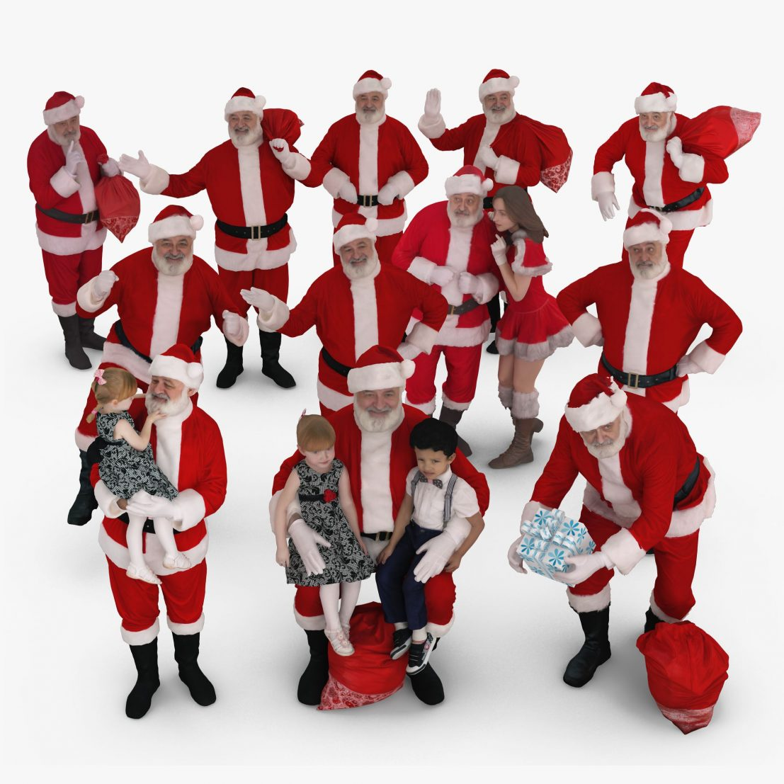 Santa Collection x12 3D Models | 3DTree Scanning Studio