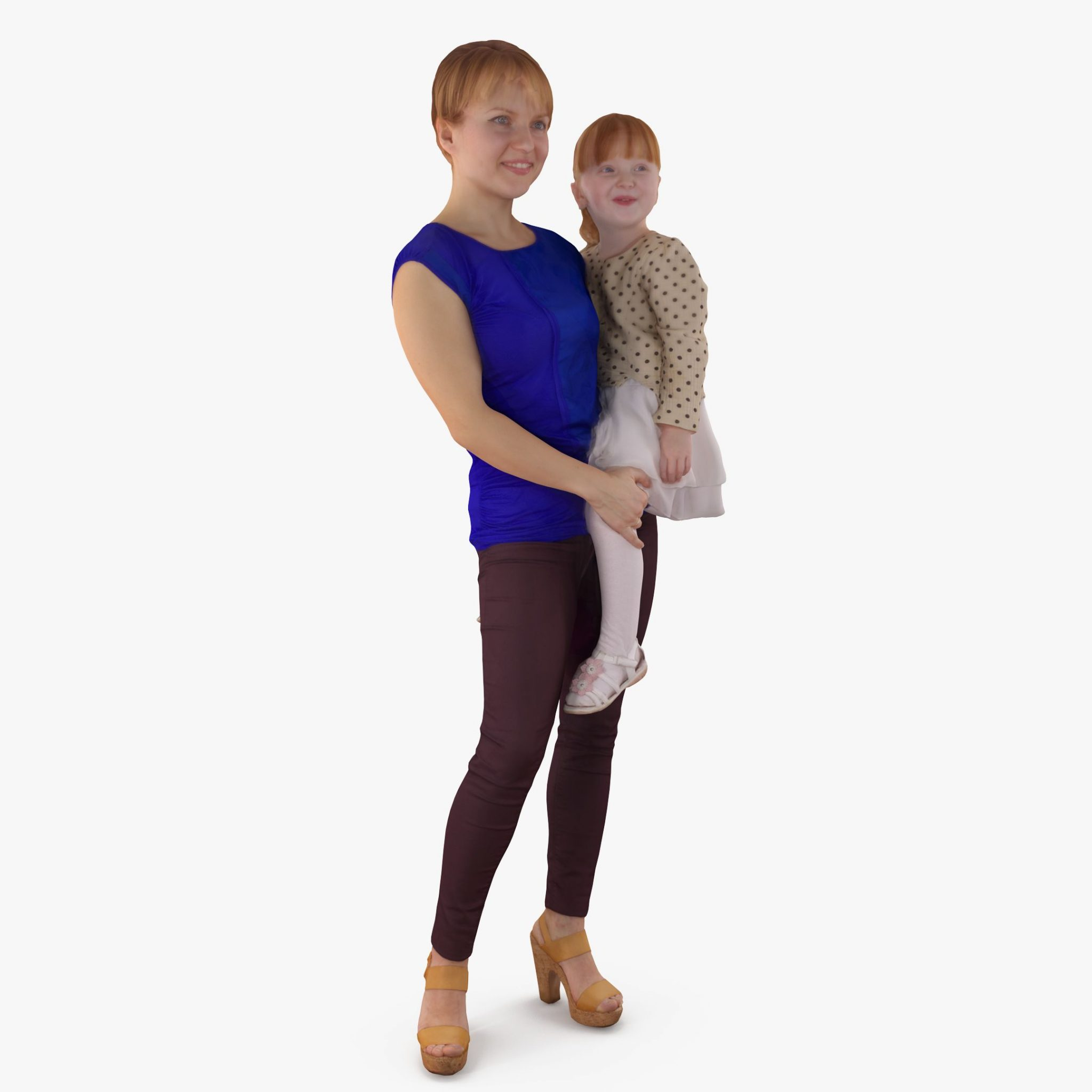 Daughter and Mom 3D Model | 3DTree Scanning Studio