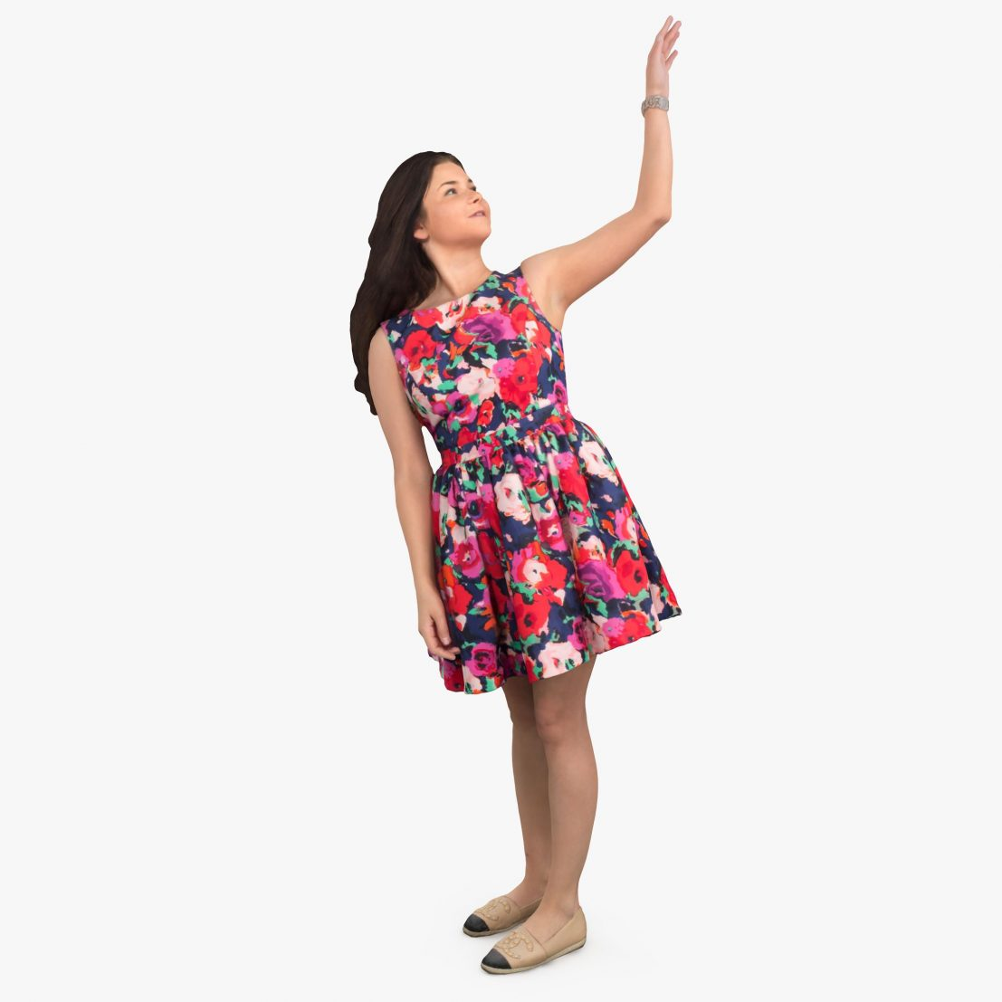 City Woman Pointing 3D Model | 3DTree Scanning Studio