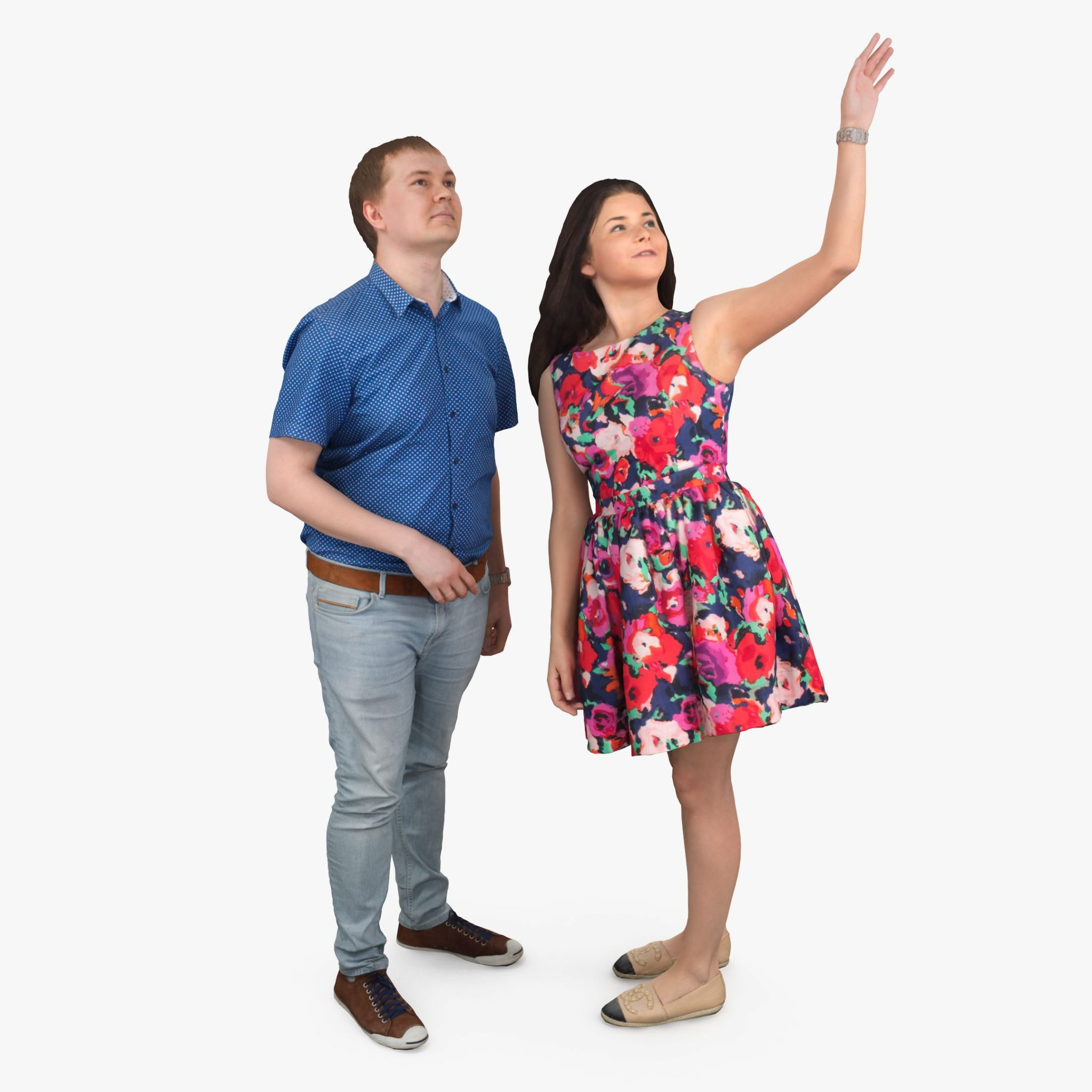 Man and Woman 3D Models | 3DTree Scanning Studio